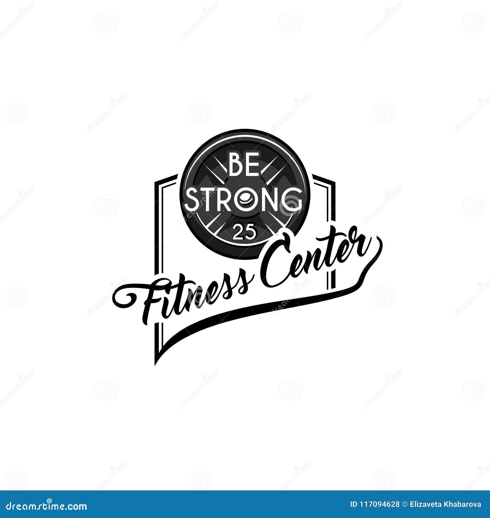 Sprawności fizycznej odznaka Talerzowy ciężar, barbell dysk Bodybuiding, Był Silnymi inskrypcjami Sport ikona, sprawność fizyczna