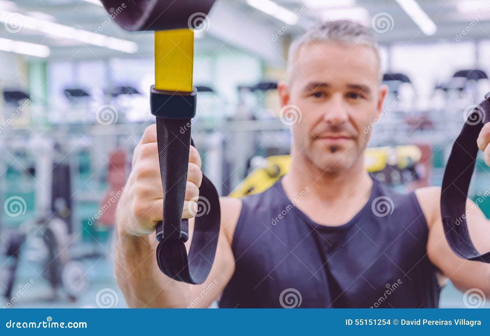 Sprawności fizycznej patka w ręce mężczyzna szkolenie