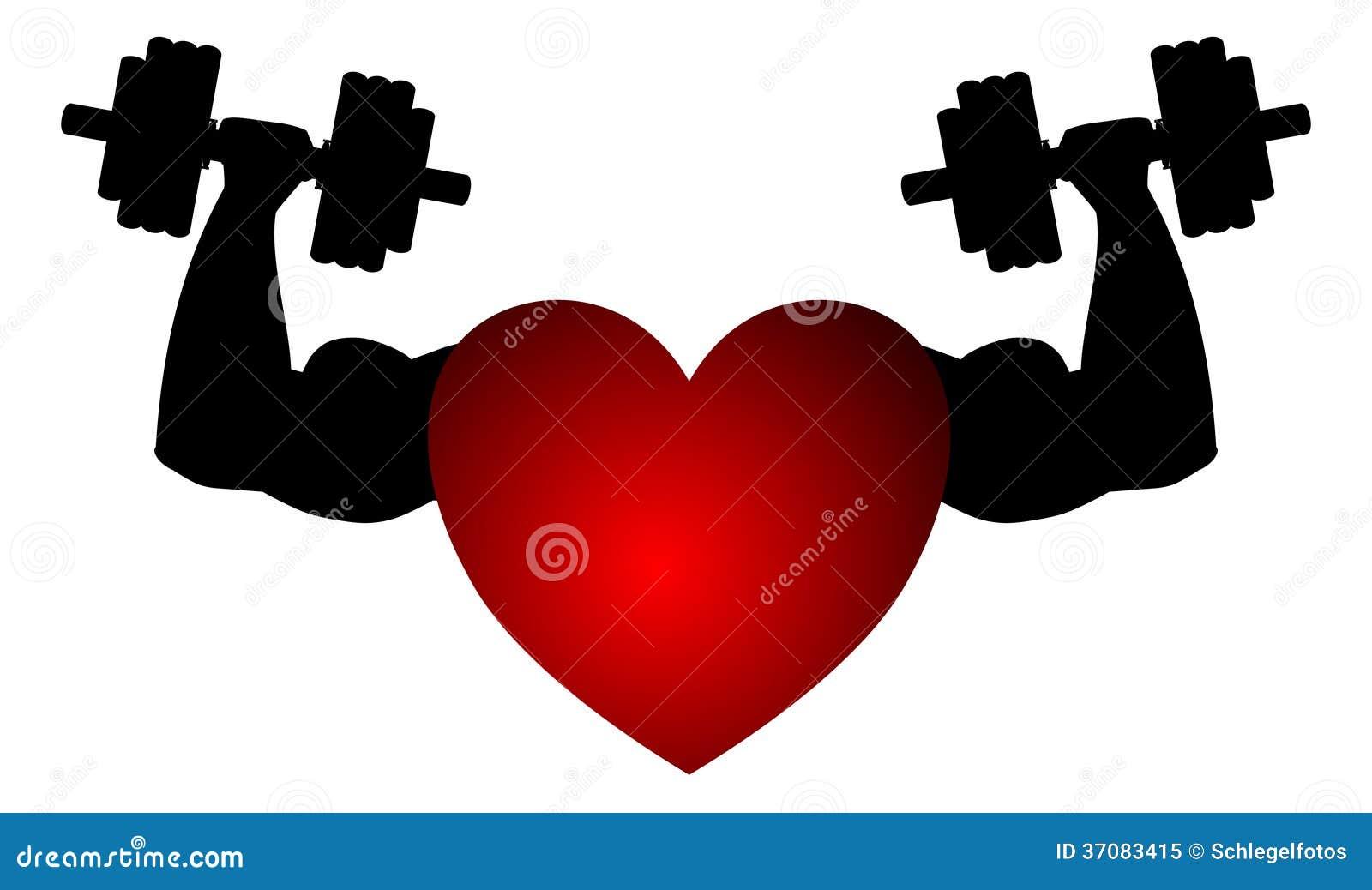 Download Sprawności Fizycznej Serce Odizolowywający Ilustracji - Ilustracja złożonej z zdrowy, heart: 37083415