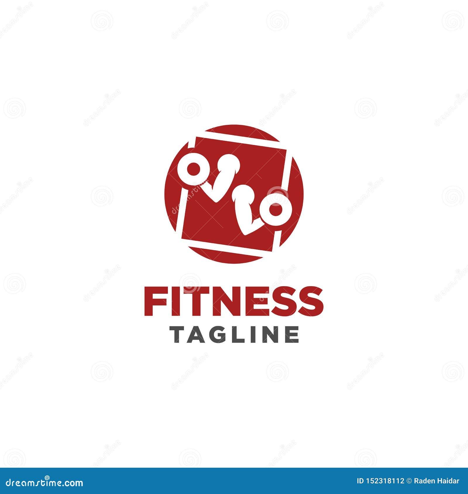 Sprawno?? fizyczna logo Symbol sporta barbel, zdrowie, ilustracja świeży życie