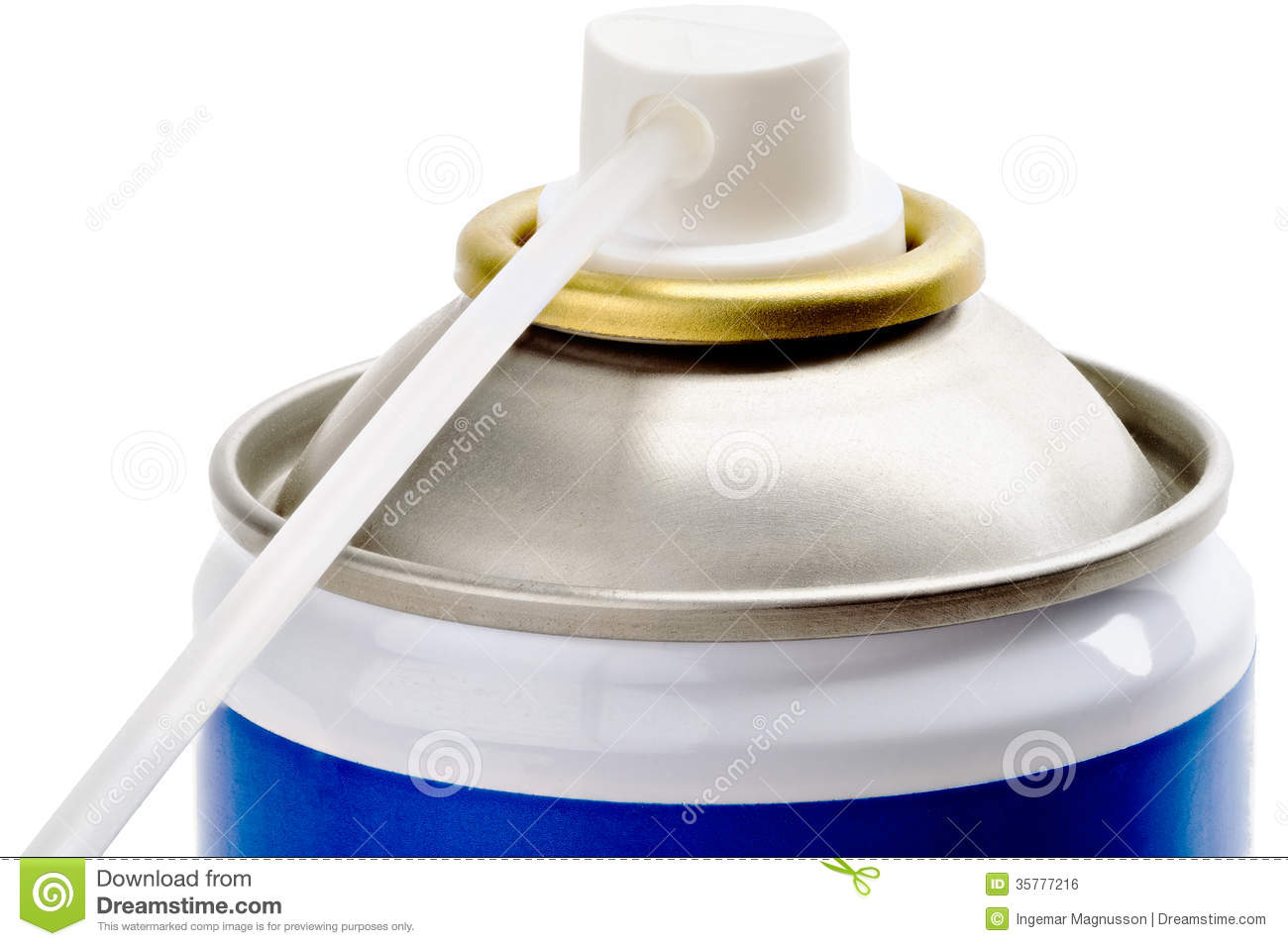 Spray can nozzle extension stock photo image of isolated