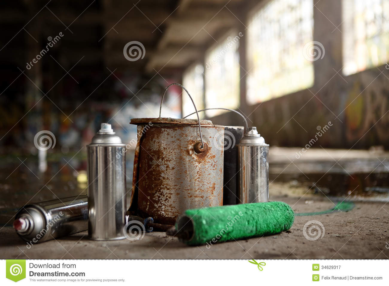 cans graffiti ground kit leftover spray theme vandalism abandoned can. Black Bedroom Furniture Sets. Home Design Ideas
