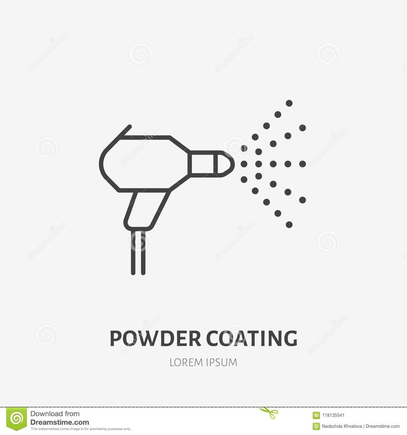 Spray Car Painting Flat Line Icon  Paint Works Sign  Thin