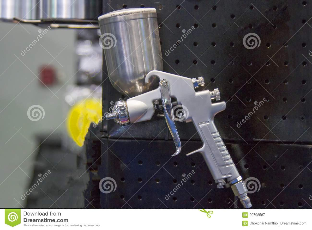 Spray gun for show with black background