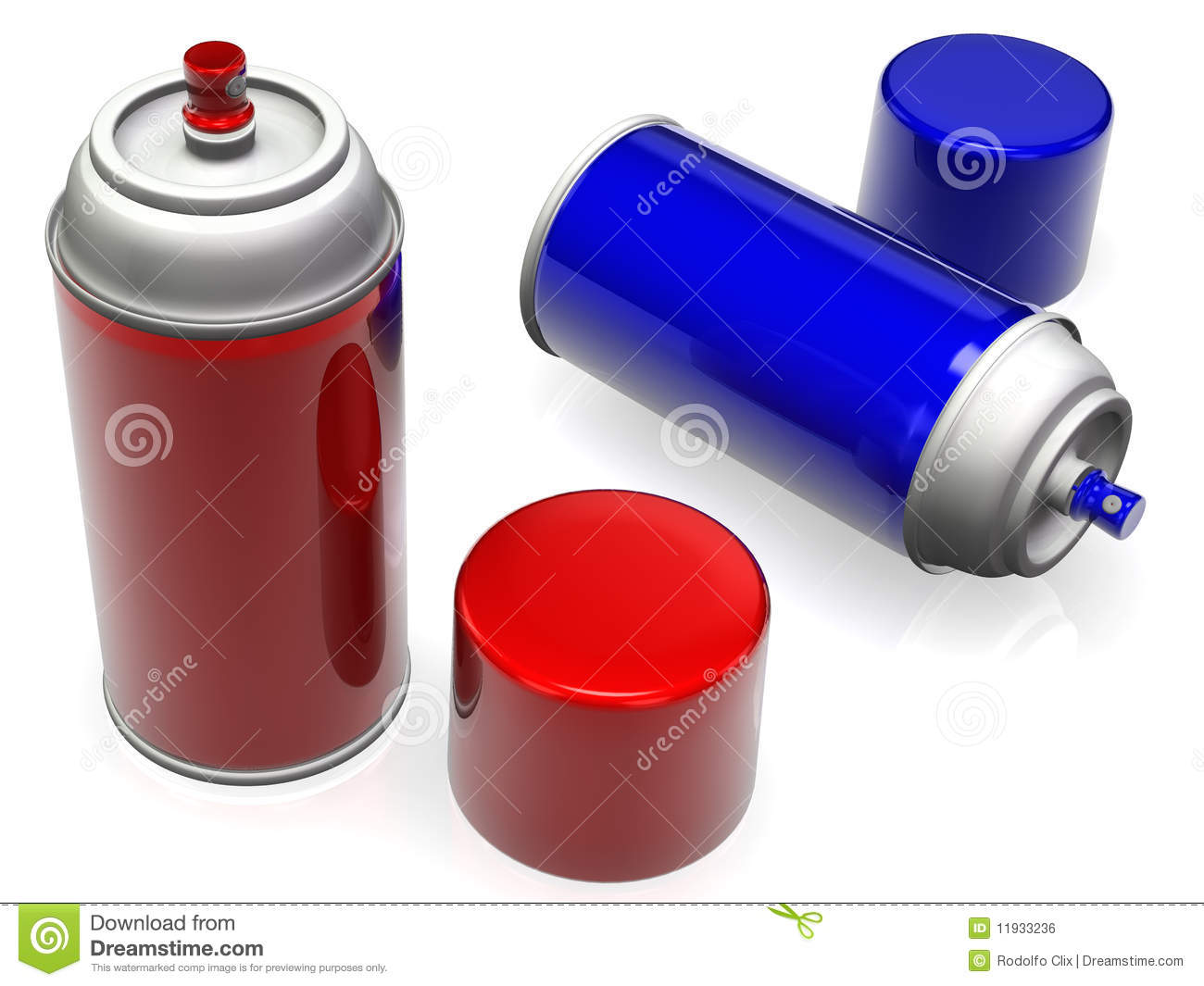 Spray Paint Cans Stock Illustration Image Of Spray Spraying 11933236