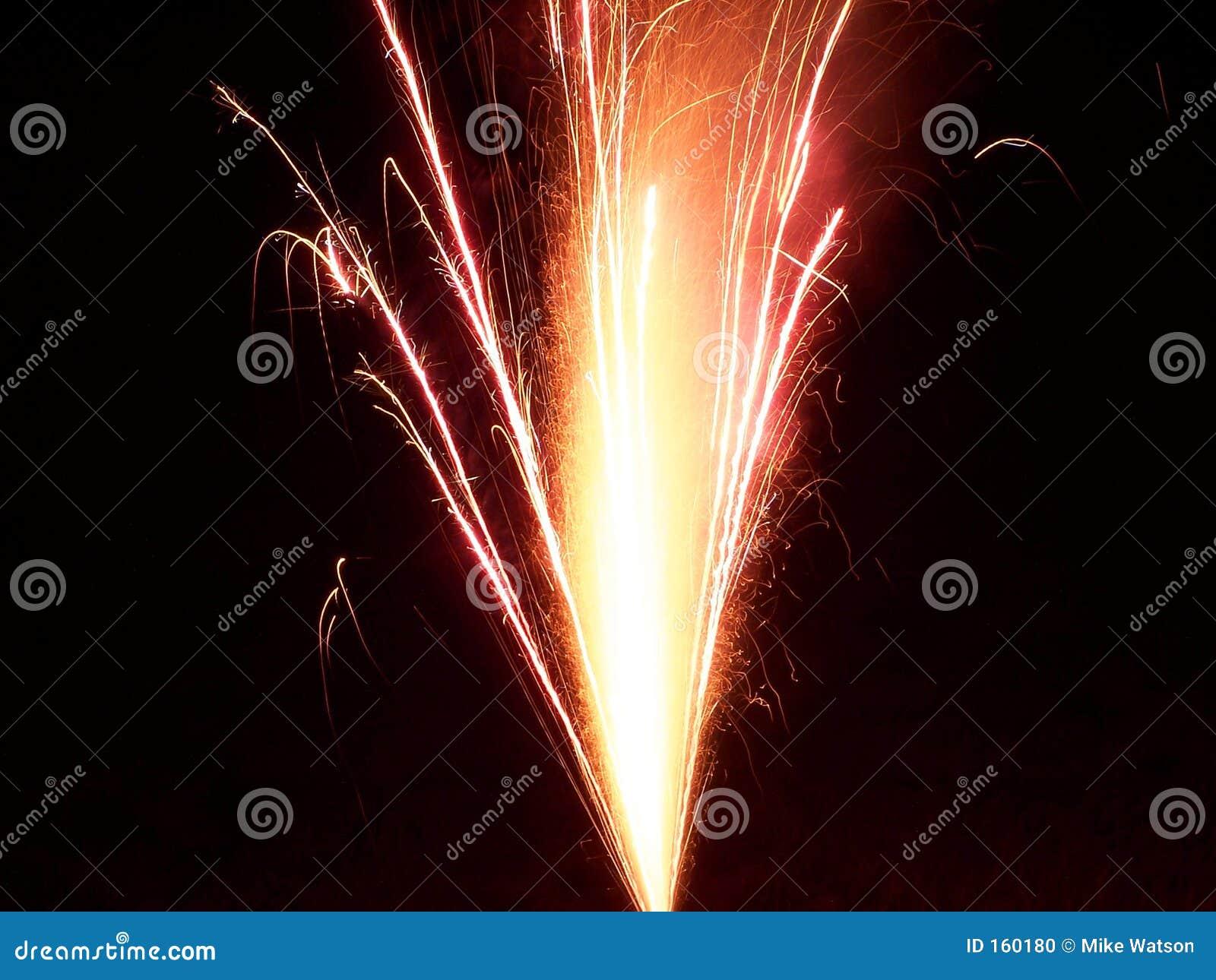 Spraying Fireworks
