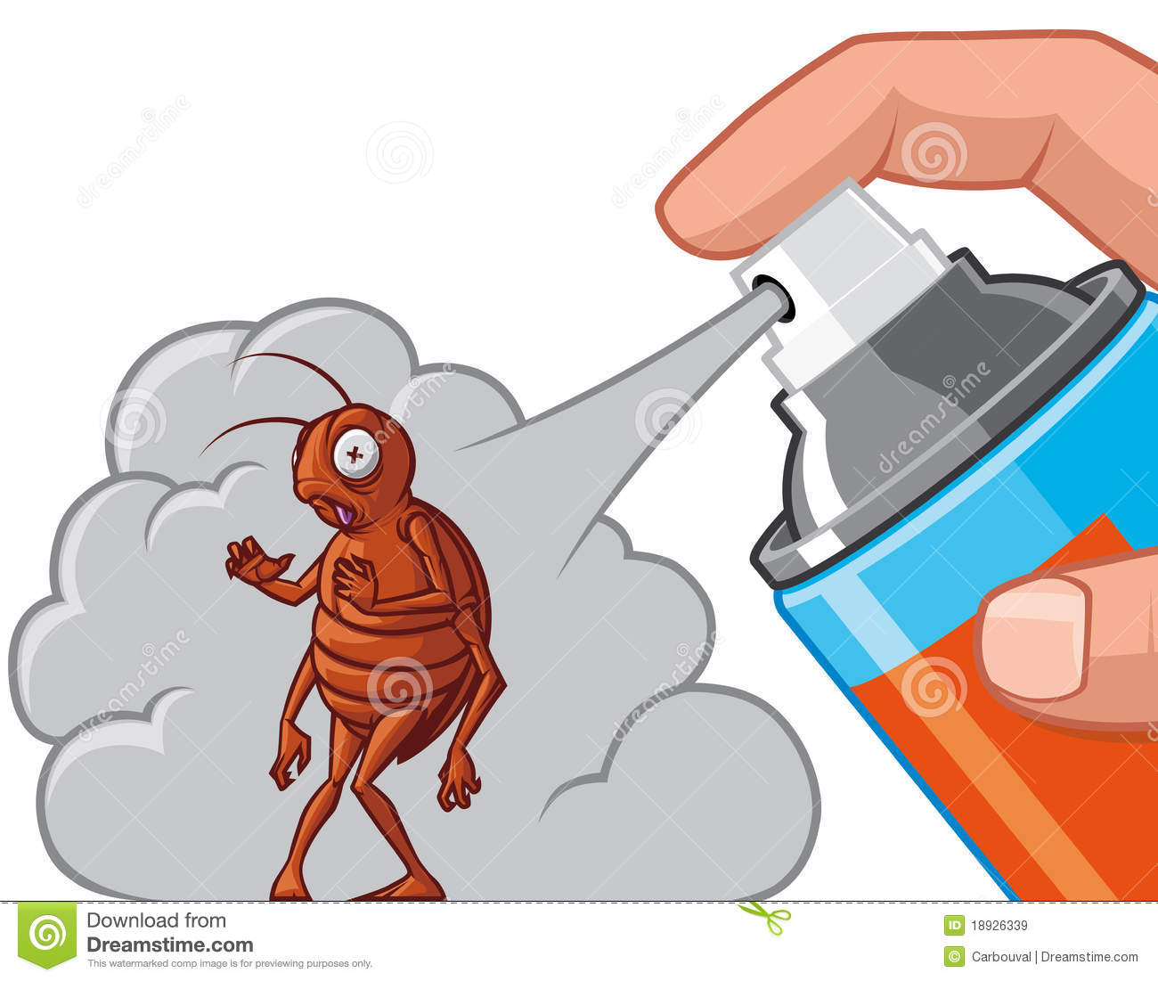 Spraying Insecticide On Cockroach Royalty Free Stock ...