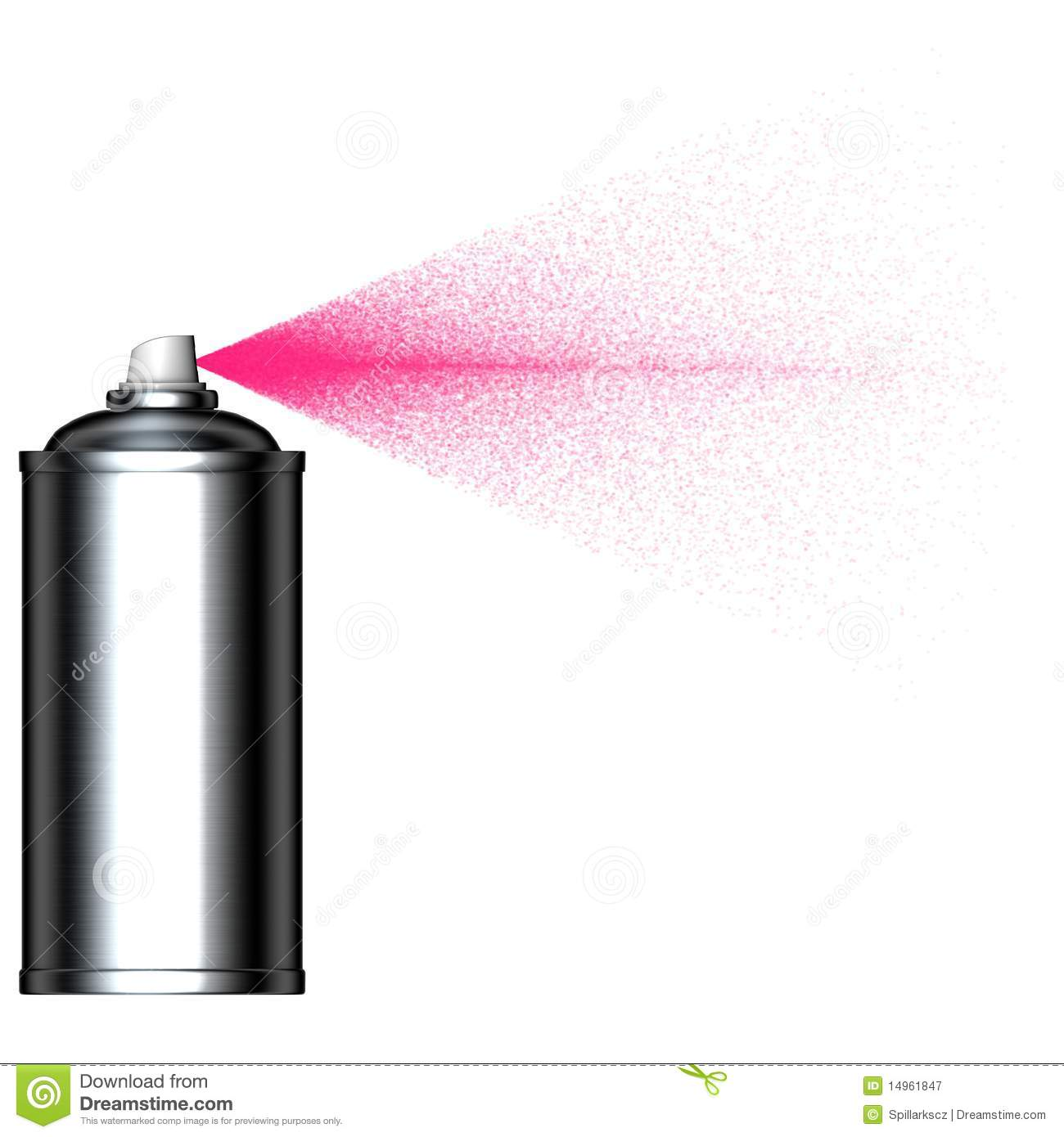 Spraying pink mist spray can seen from the side stock illustration illustration of street Paint with spray can