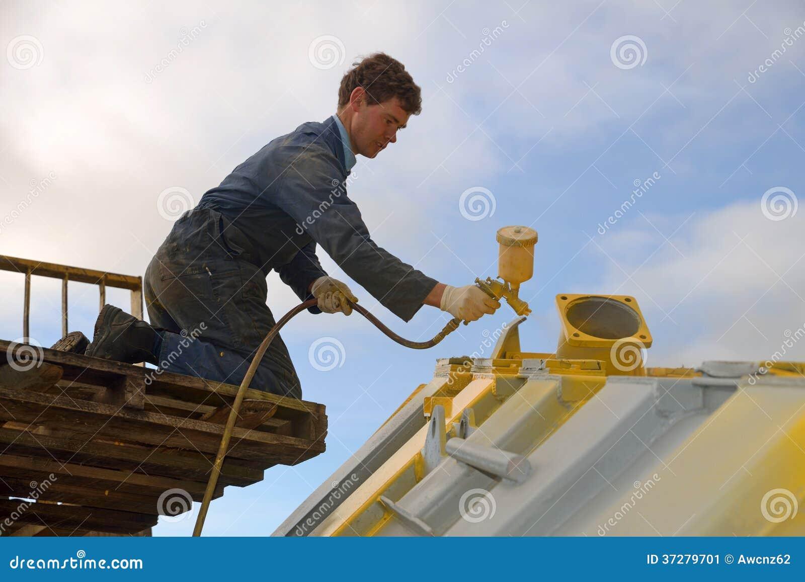 Spraying the truck