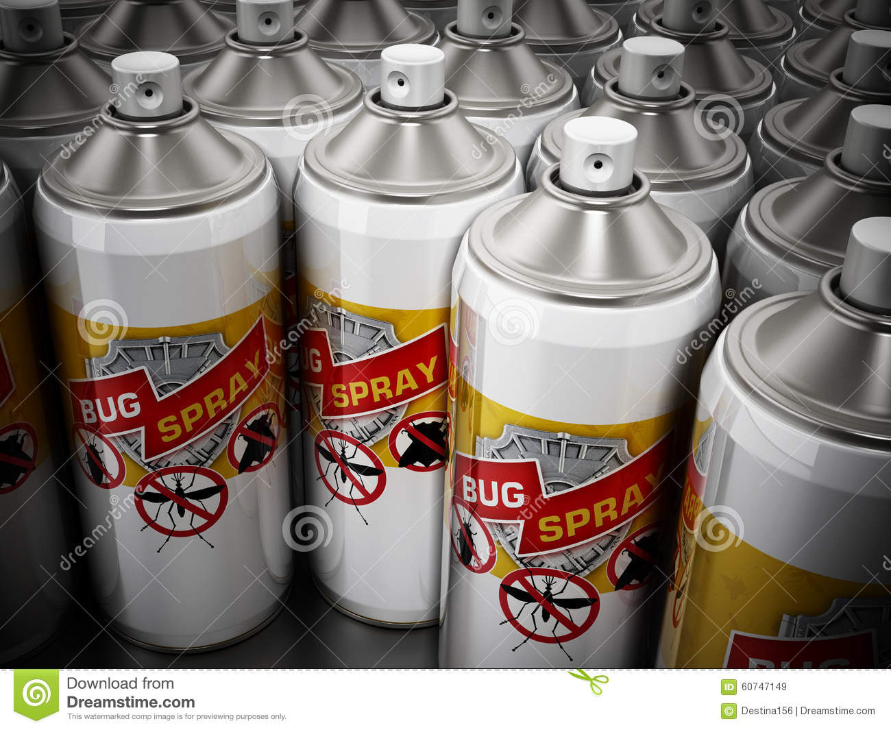 Sprays anti insectes illustration stock image 60747149 for Peinture anti insecte