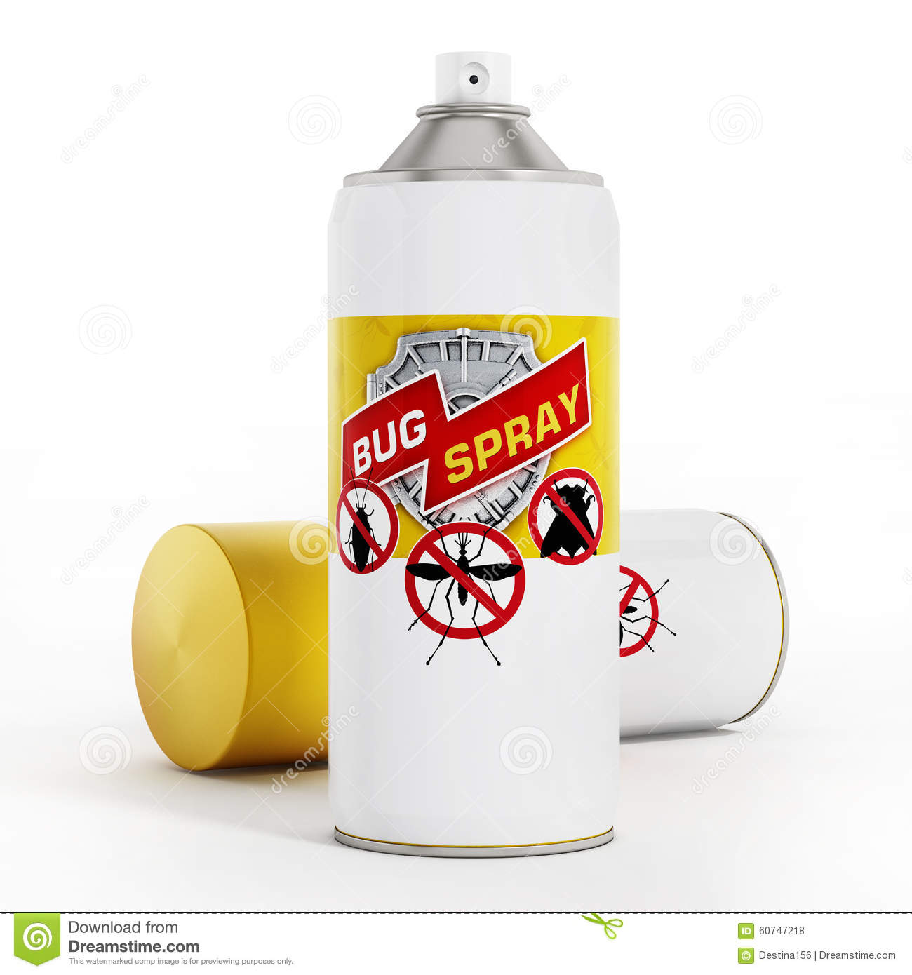 Sprays anti insectes illustration stock image 60747218 for Peinture anti mouche
