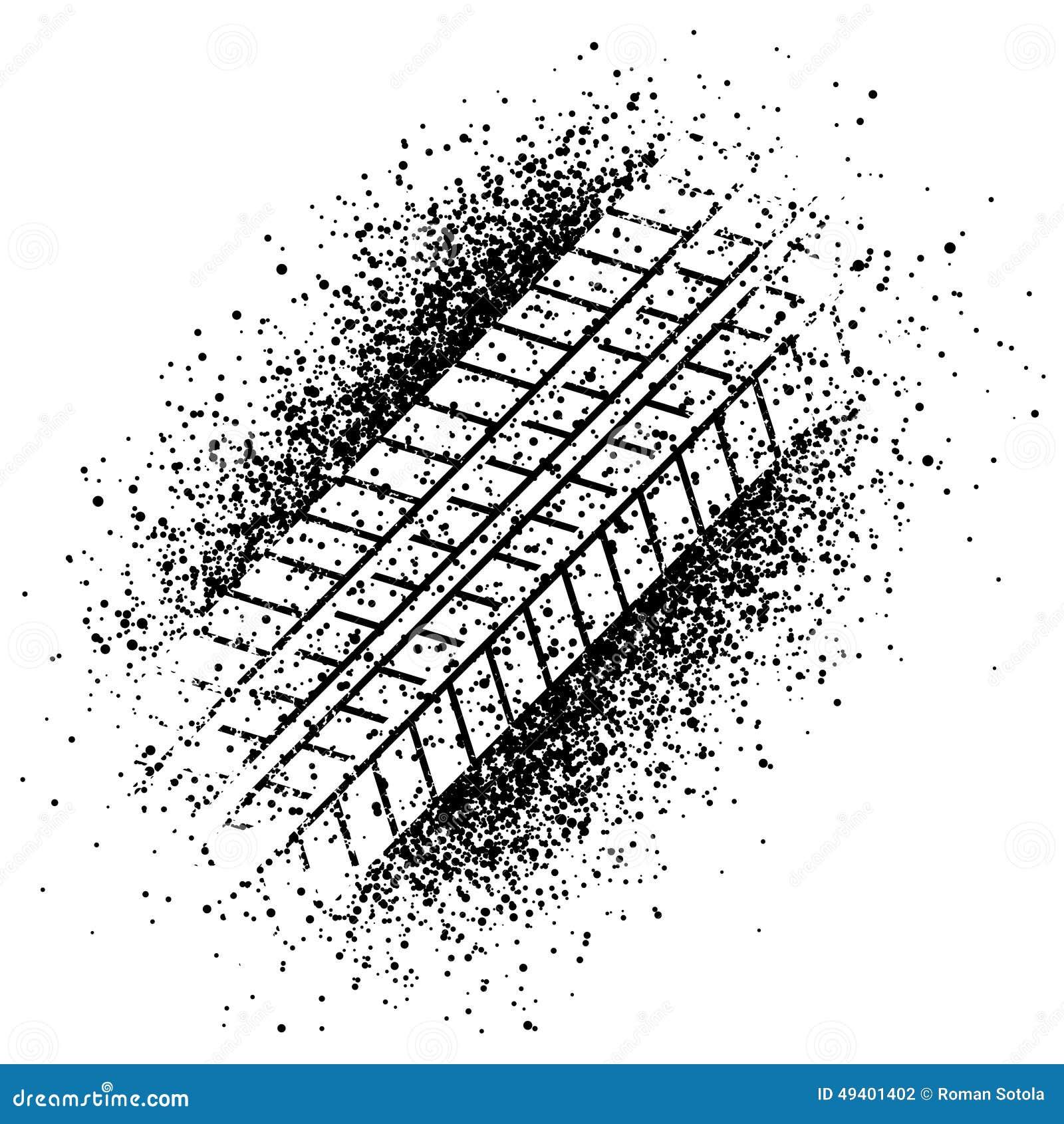 Download Sprayspur des Reifens vektor abbildung. Illustration von grunge - 49401402