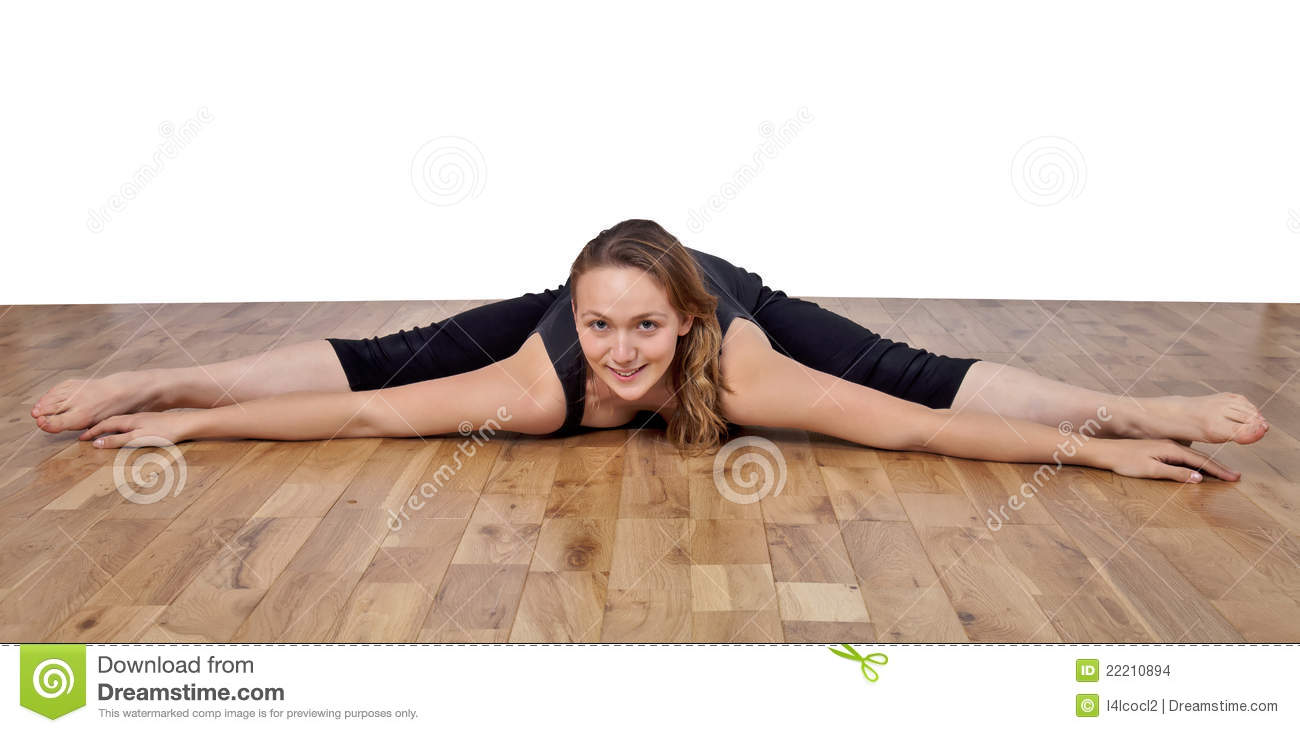 Legs spread eagle woman