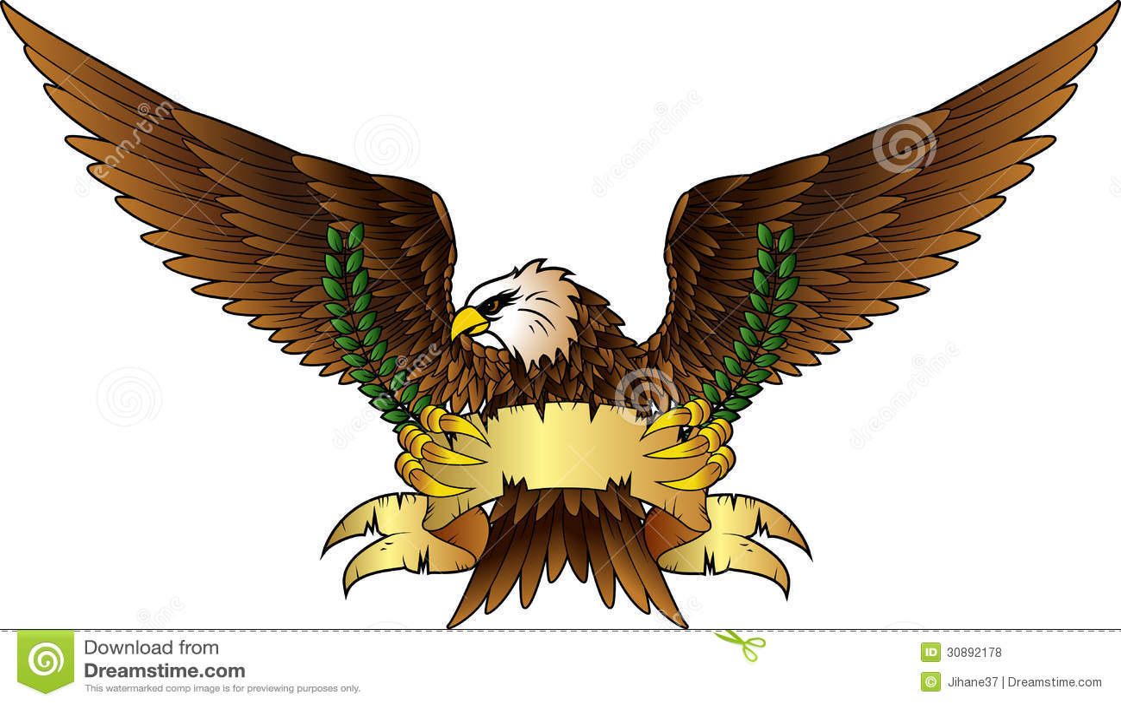 Spread winged eagle insignia  Eagle Wings Spread Clipart Black And White
