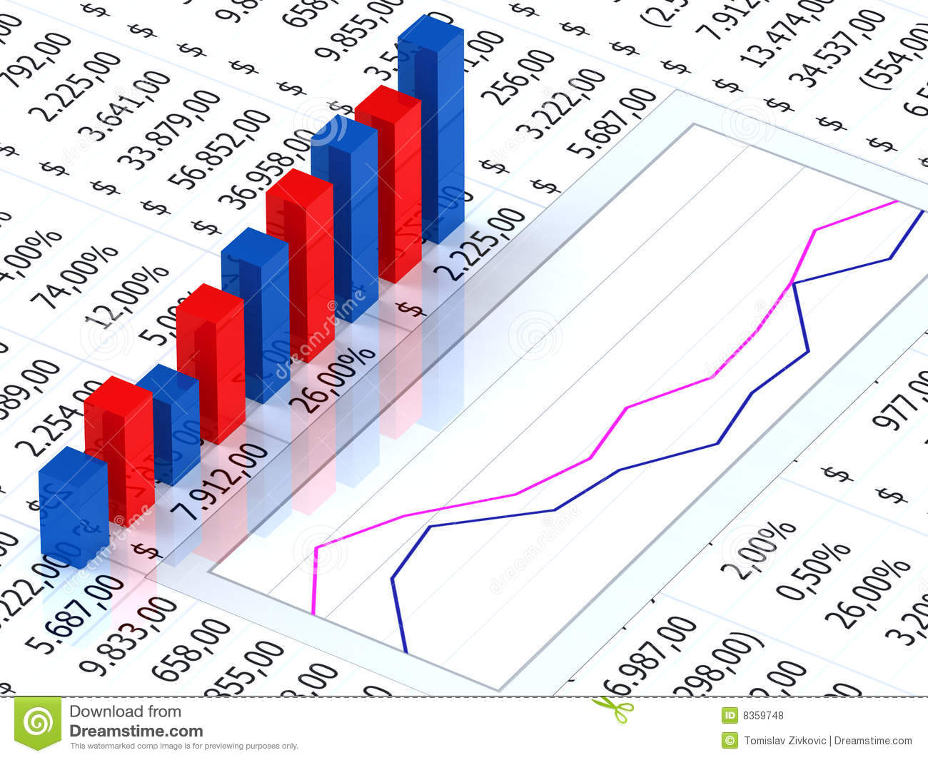 spreadsheet graph 8359748 spreadsheet with graph stock illustration illustration of results