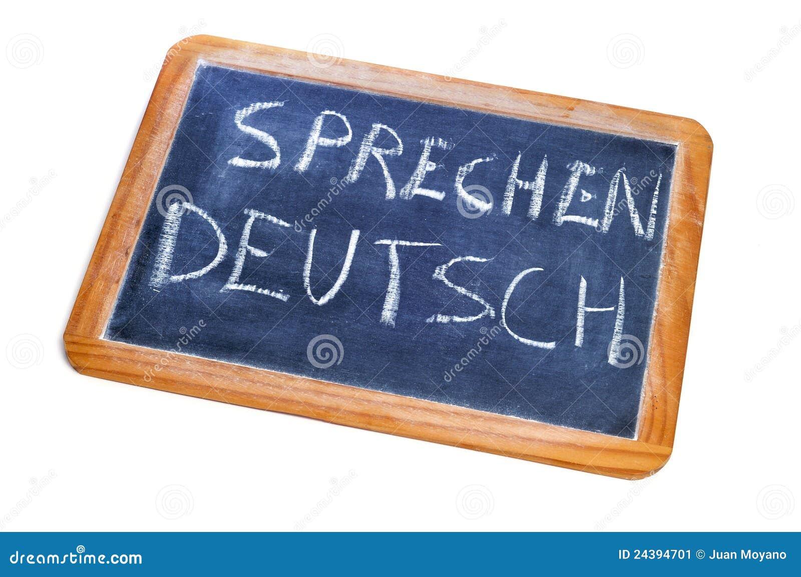 Sprechen Deutsch Tedesco è Parlato Immagine Stock