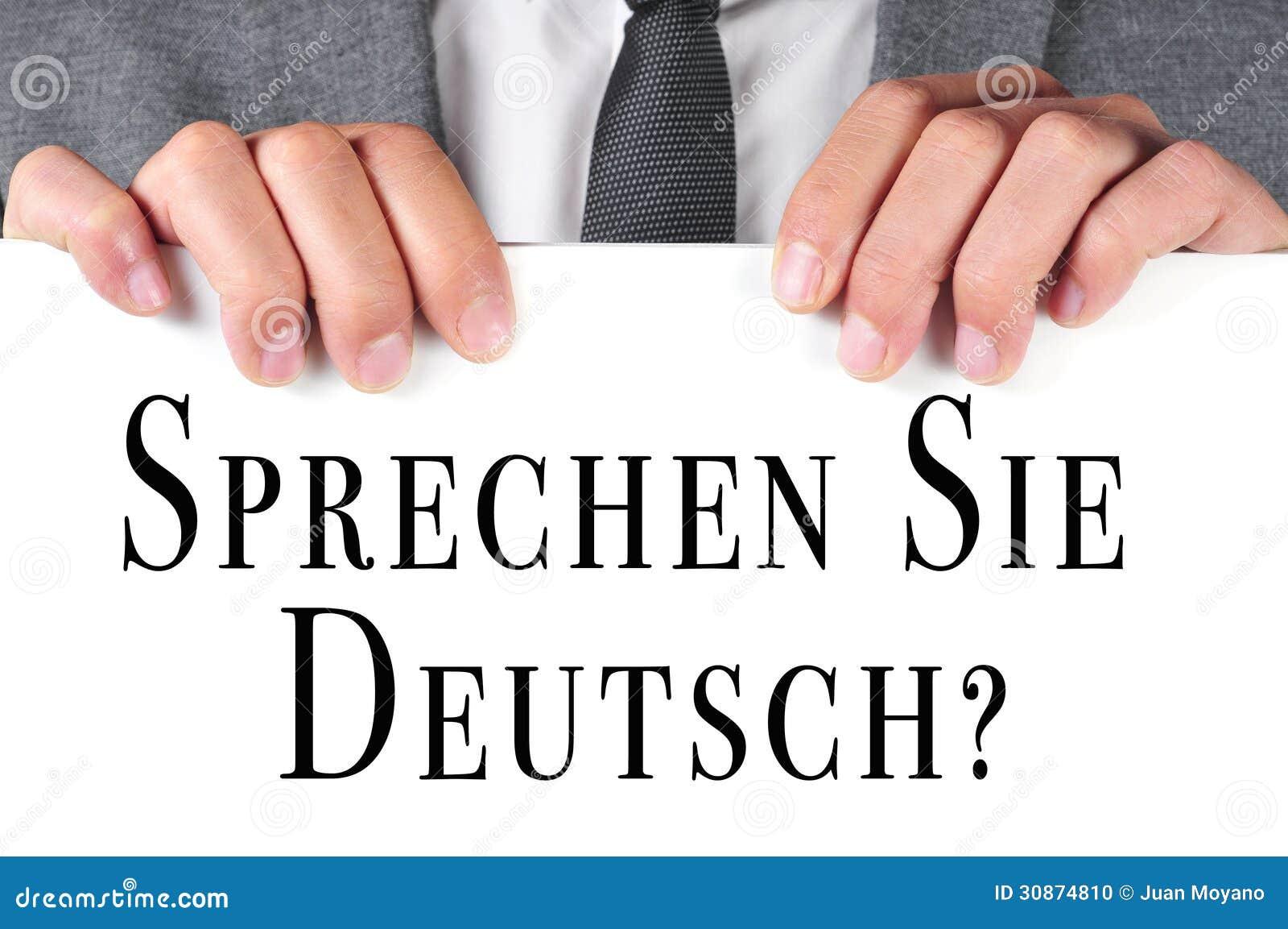 english sprechen deutsch
