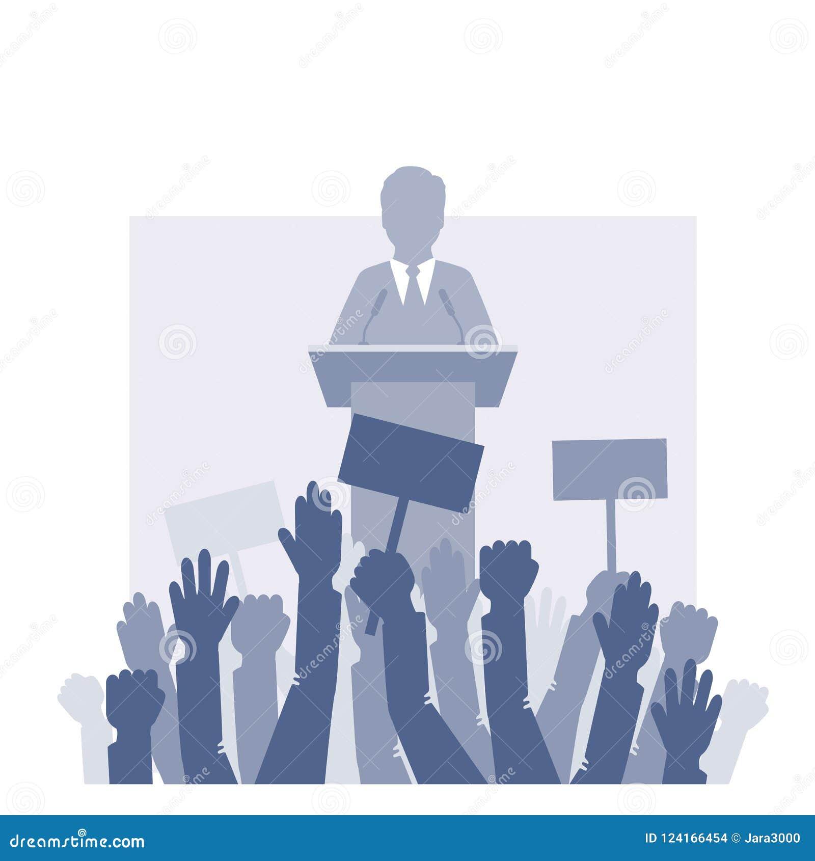 Sprekerstribunes voor de menigte
