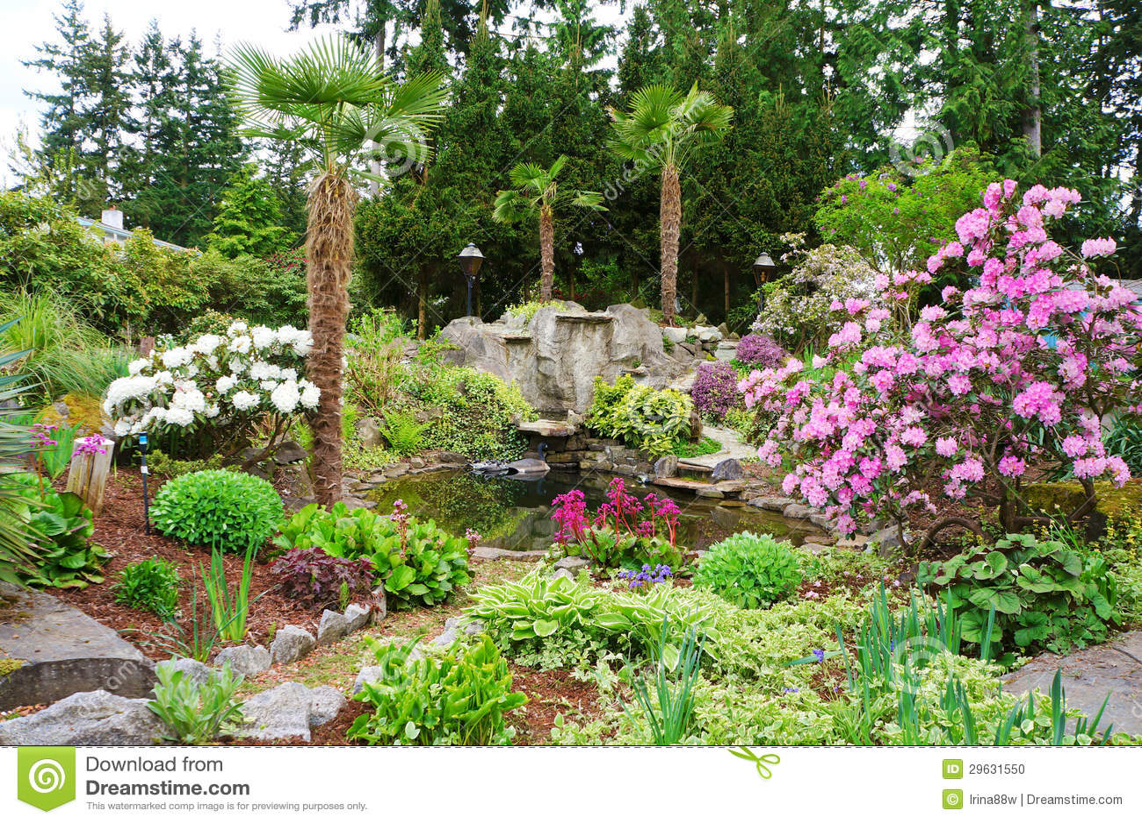 Spring american northwest home landscape garden stock for Landscape my garden