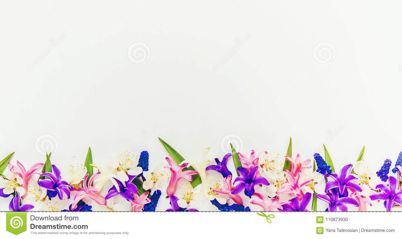 Spring background, flowers.