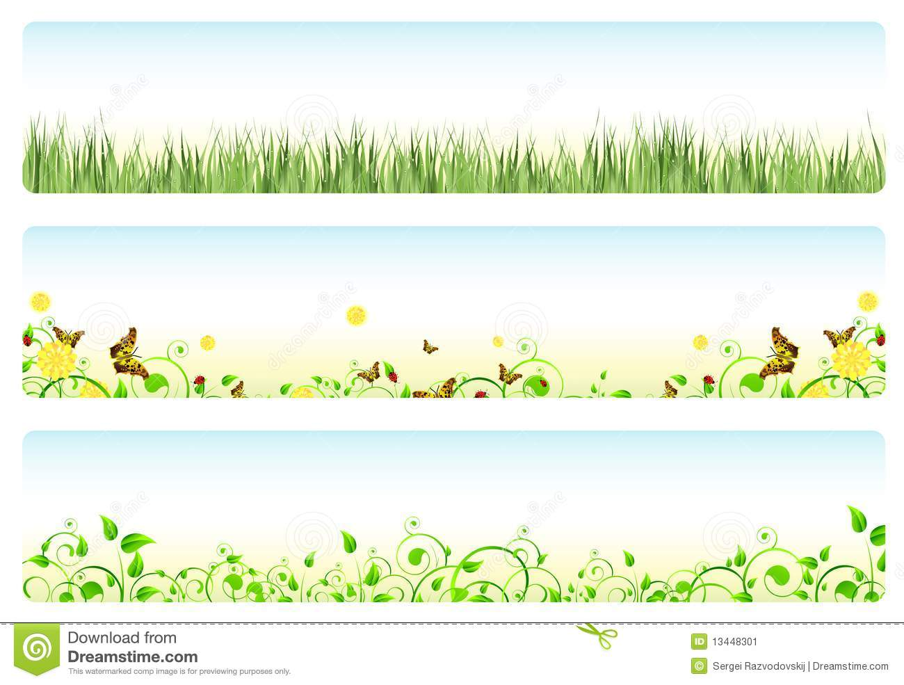 Spring banners stock vector. Illustration of curl ...