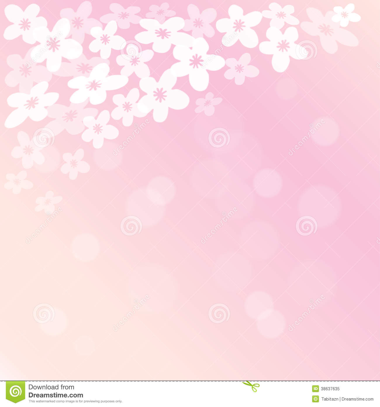 Spring Blossoming Cherry Tree Background Royalty Free ...