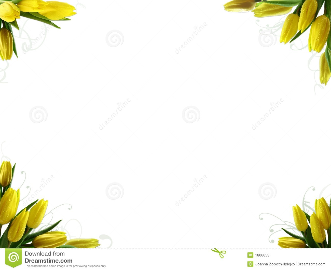 SPRING BORDER stock image. Image of flower, frame ...Tulips Page Borders Clipart Free