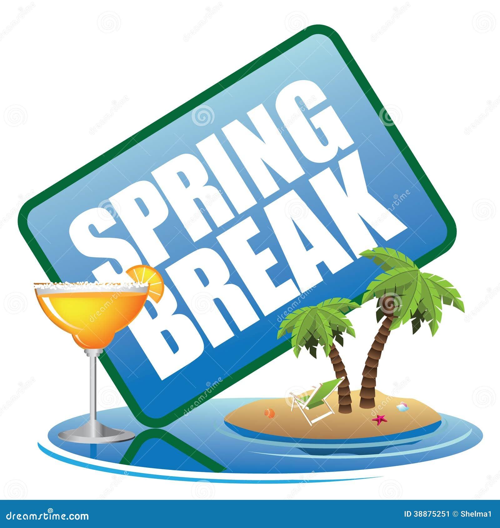 Spring break icon stock illustration. Illustration of clip ...