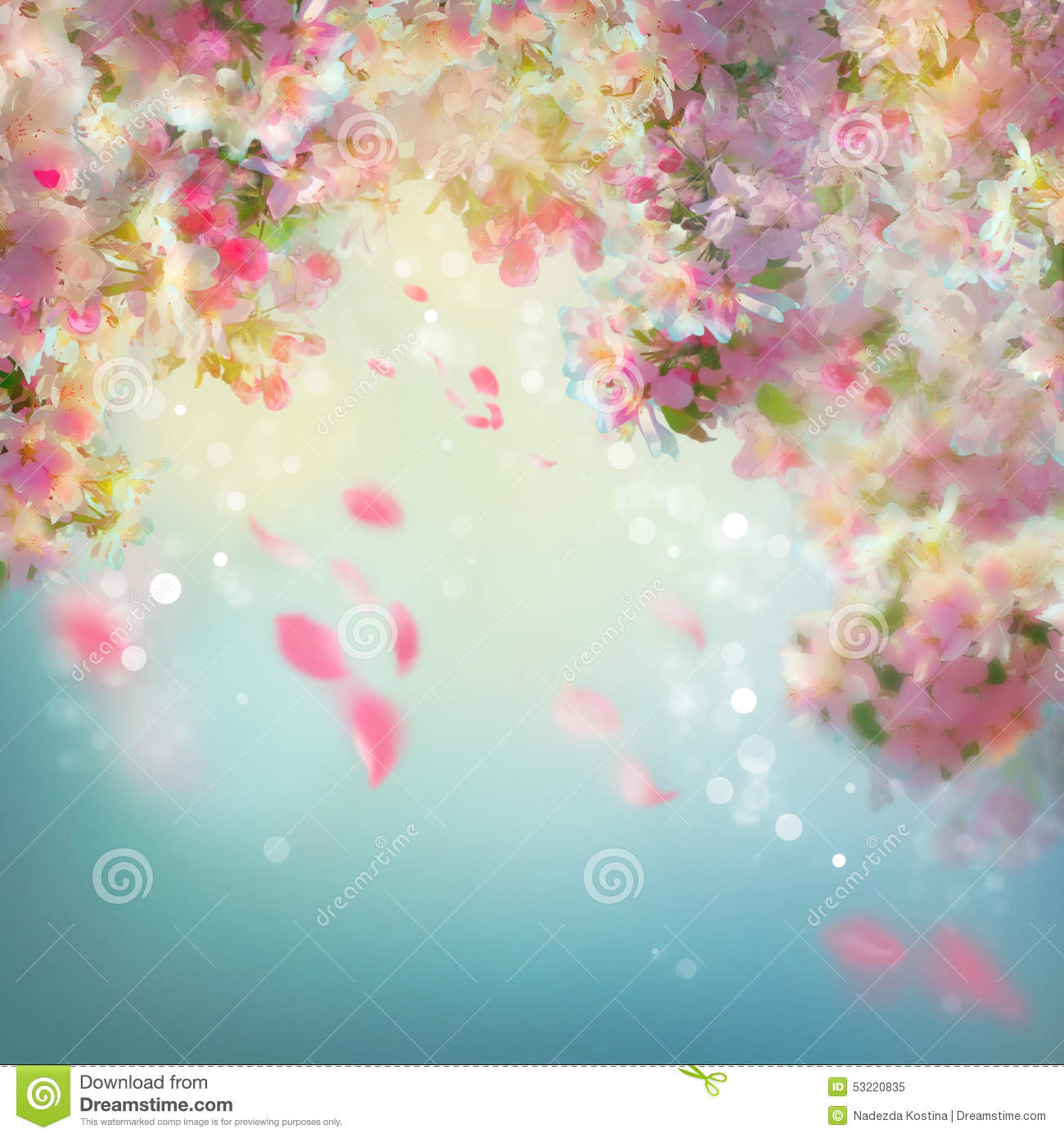 Spring Cherry Blossom Background Stock Illustration