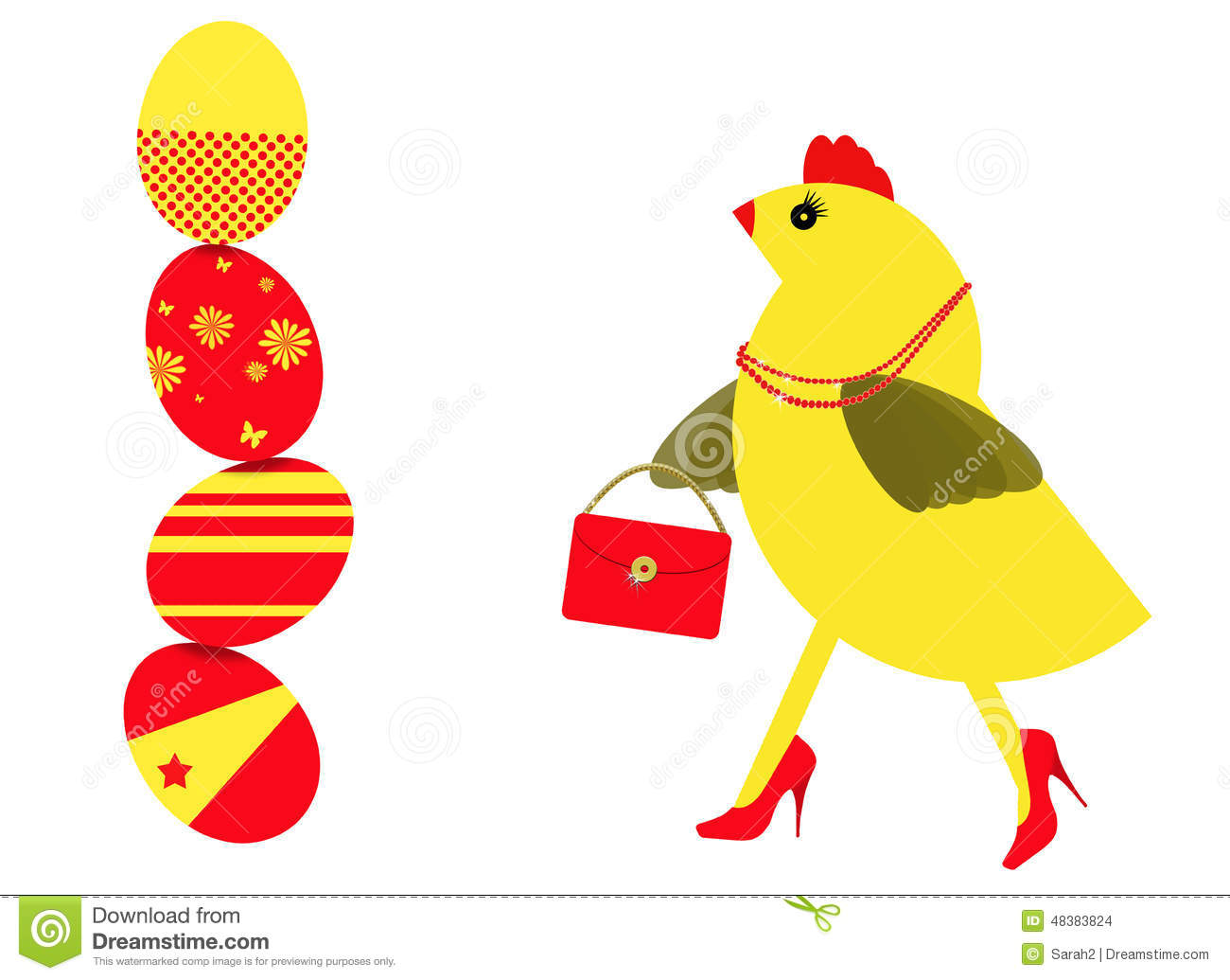 ... Shopping For Easter Eggs Stock Illustration - Image: 48383824