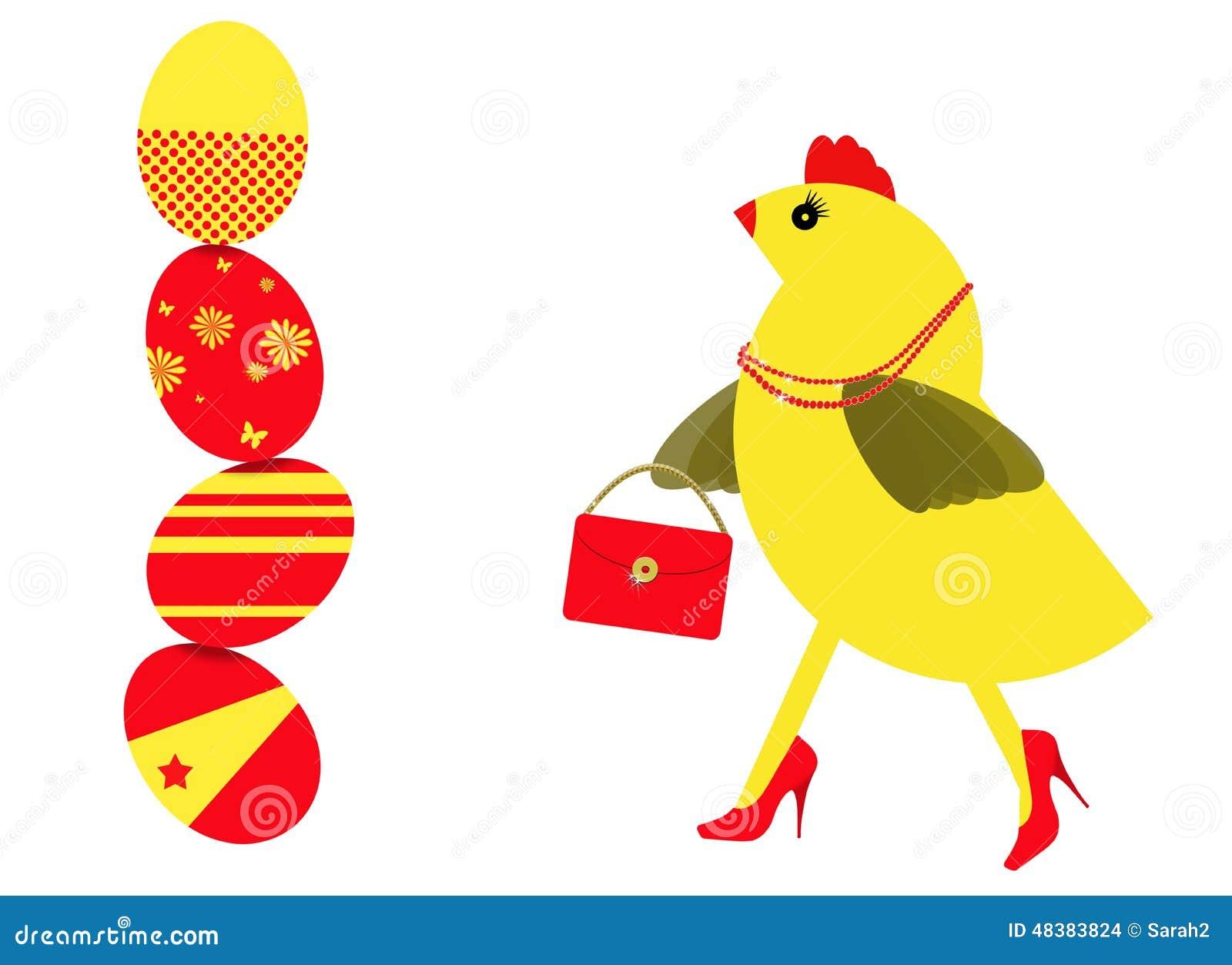 ... Shopping For Easter Eggs Stock Illustration - Image: 48383824