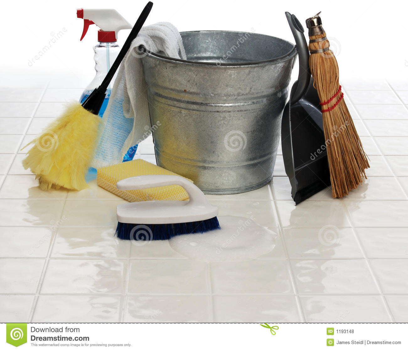Household Supplies: Spring Cleaning Stock Photo. Image Of Household, Floor