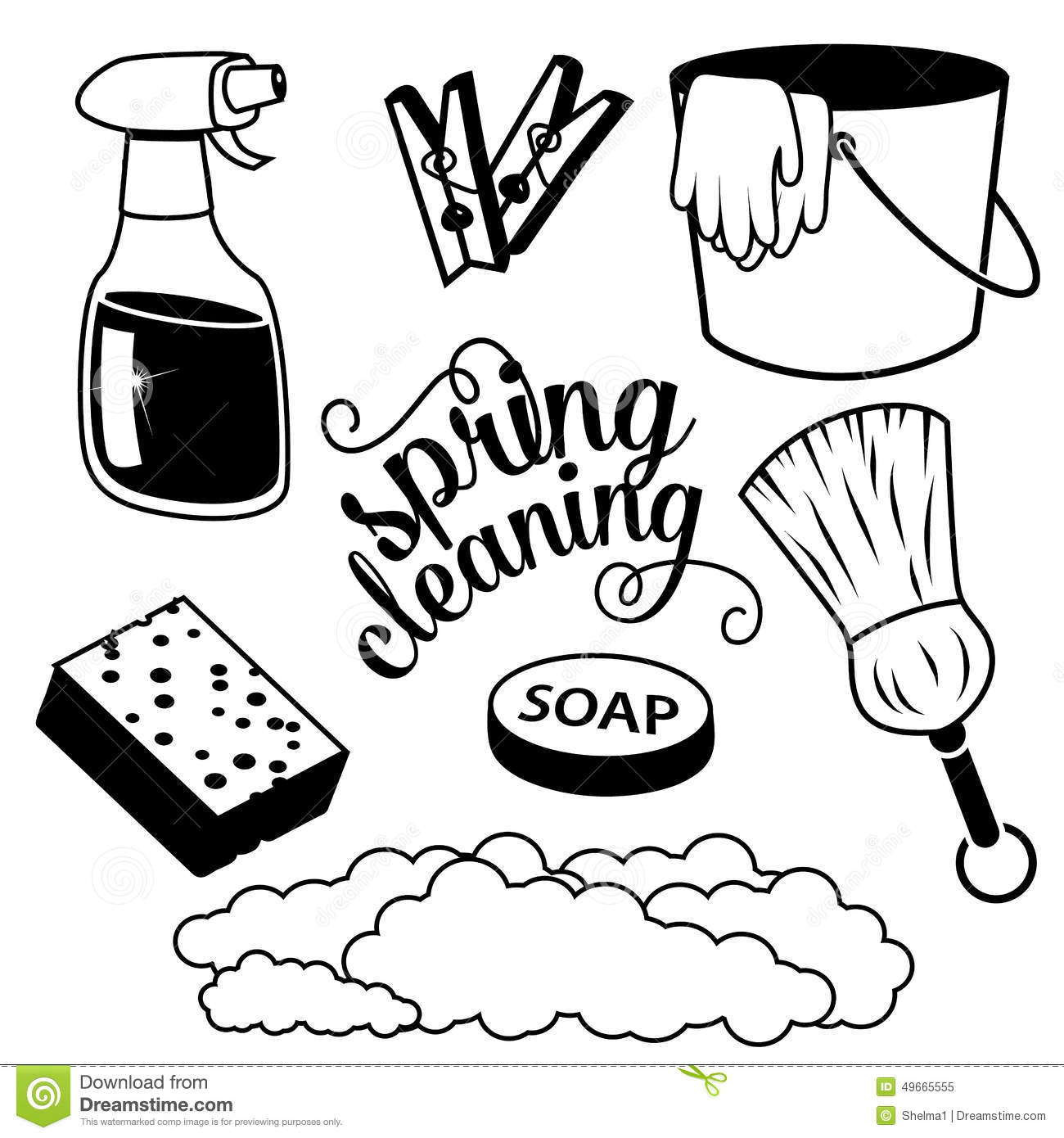 Cleaning Supplies Clipart Black And White How To Format