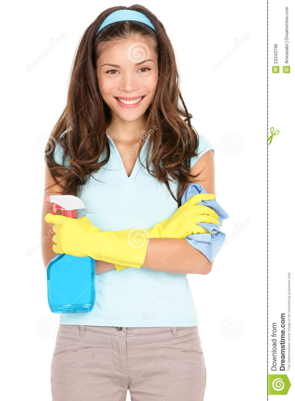 Spring Cleaning Woman Royalty Free Stock Image Image
