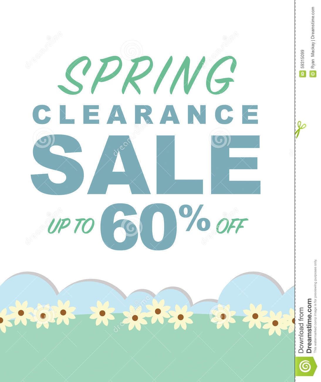 Spring Sale: Spring Clearance Sale Stock Vector