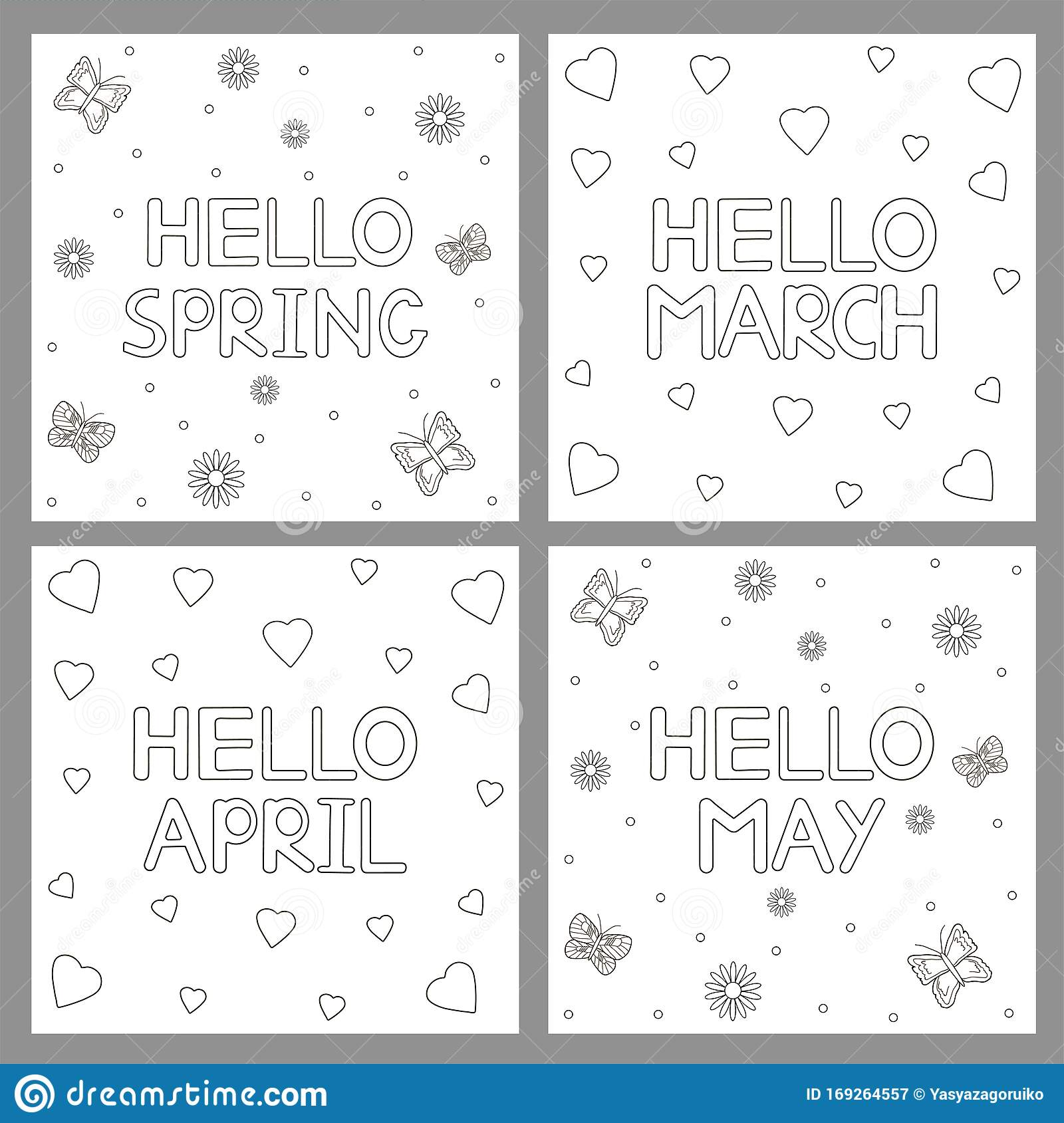 Flower Hearts Kid's Print and Color Page | Heart coloring pages ... | 1689x1600