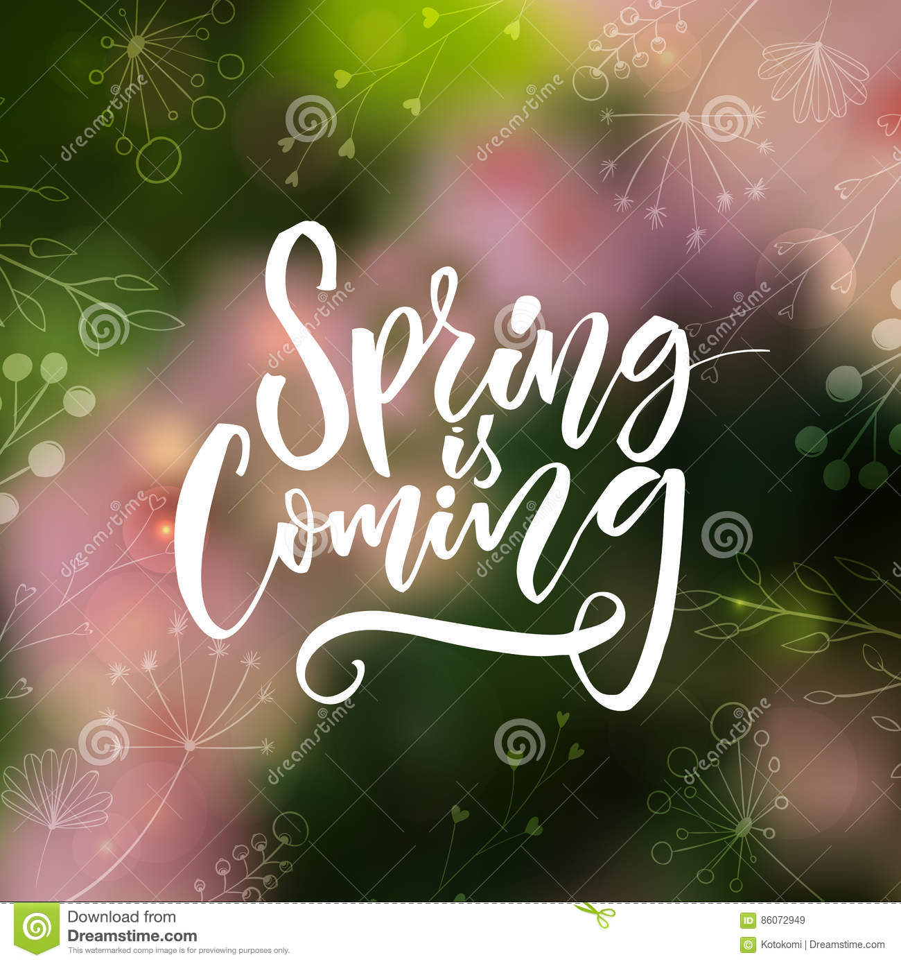 Spring Is Coming Inspirational Quote About Spring Modern
