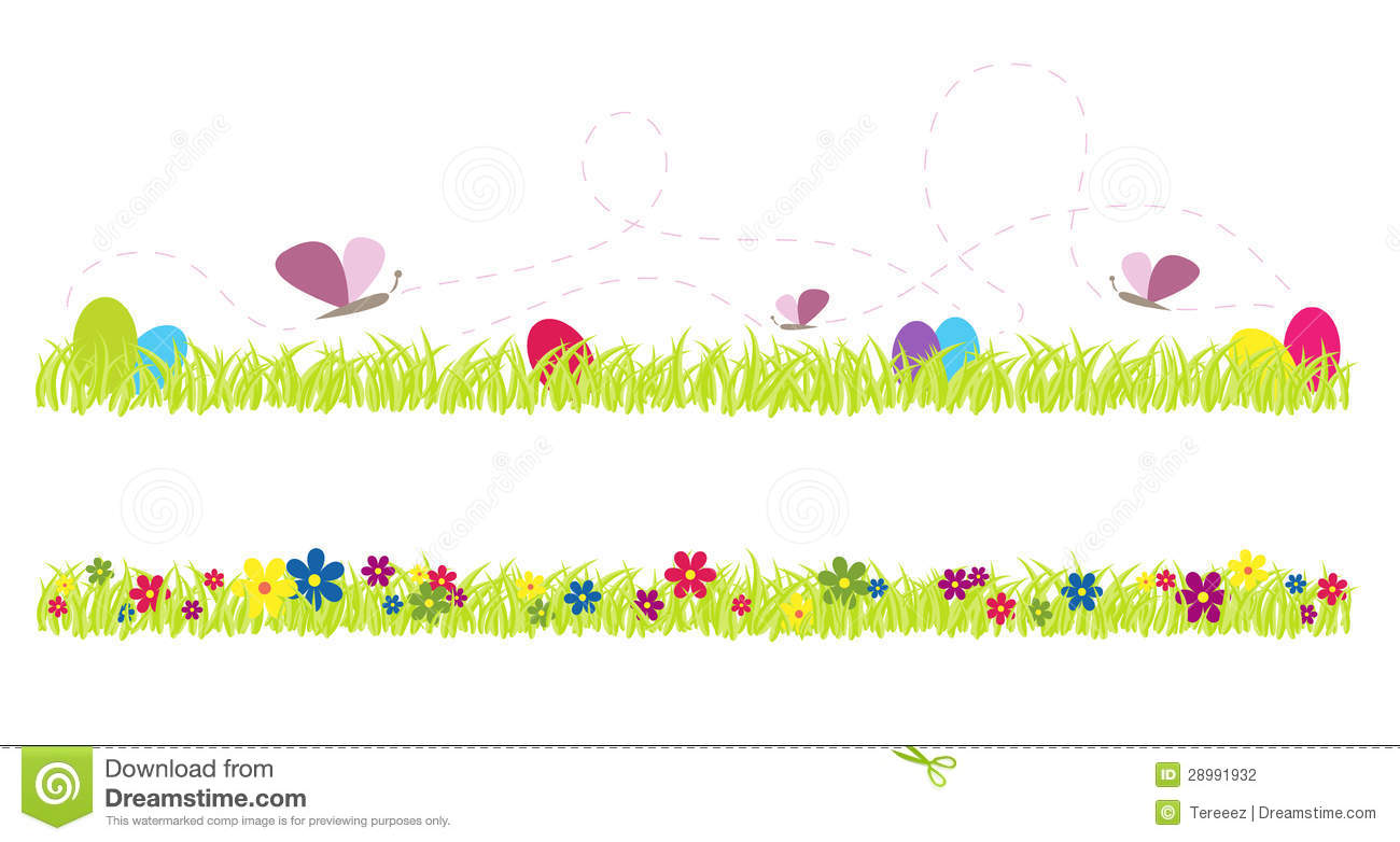 Spring Cute Grass Vector Illustration Stock Photography - Image ...