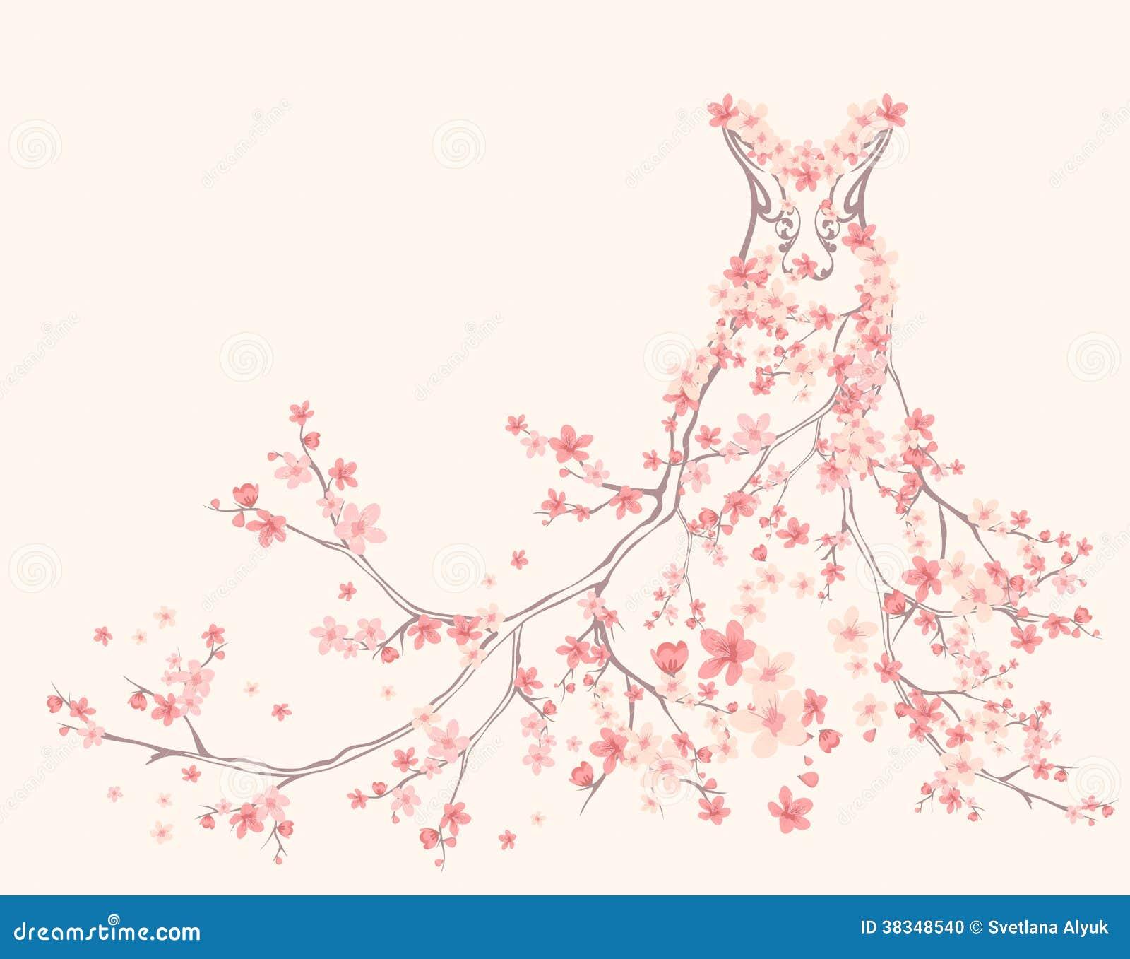Spring Dress Vector Stock Photo Image 38348540