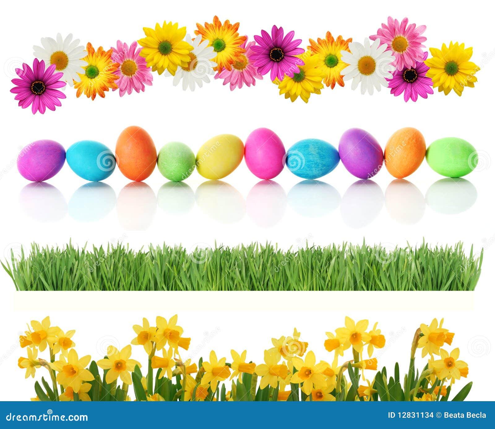 Spring Easter borders