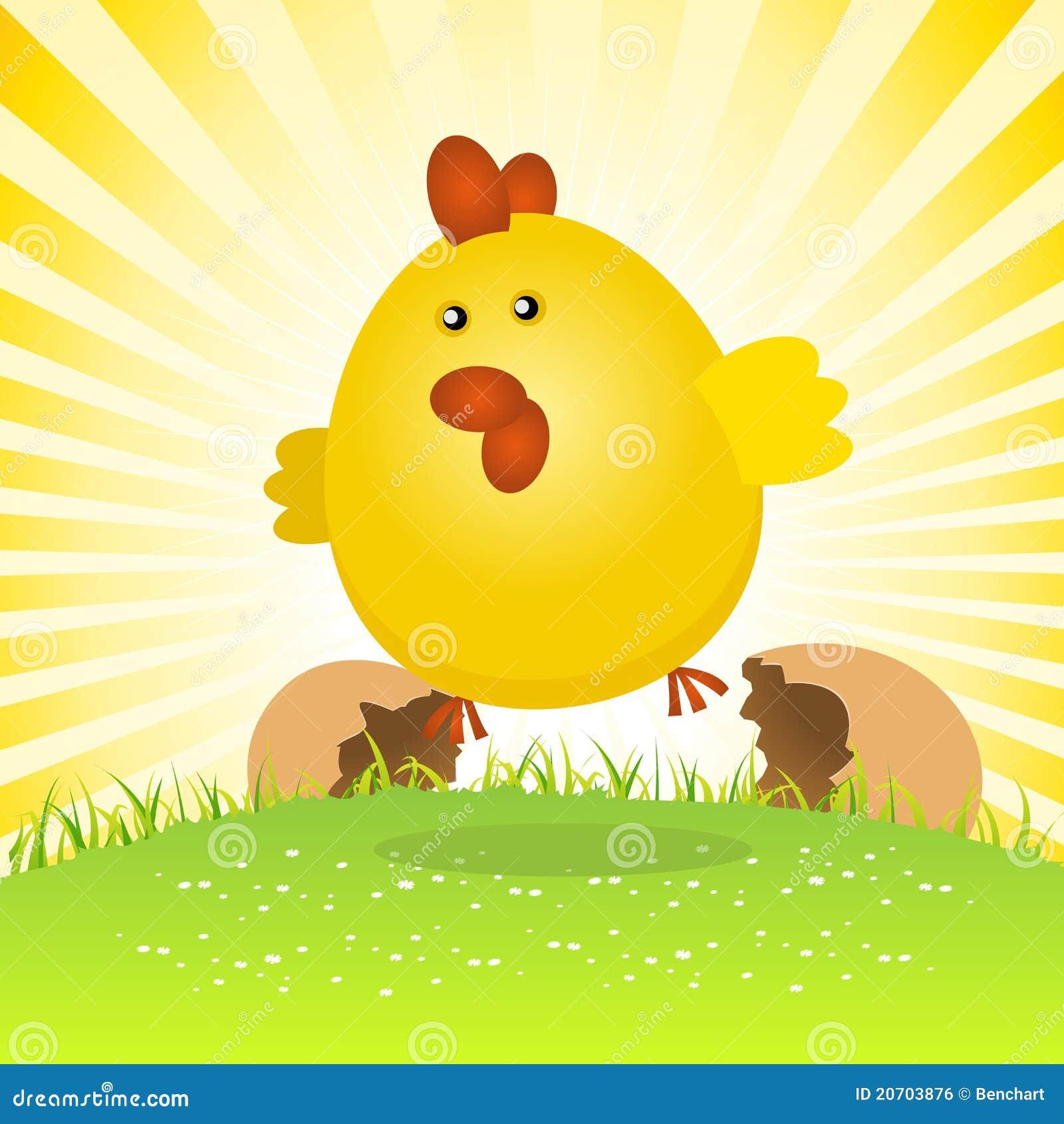 Spring Easter Chick Birth