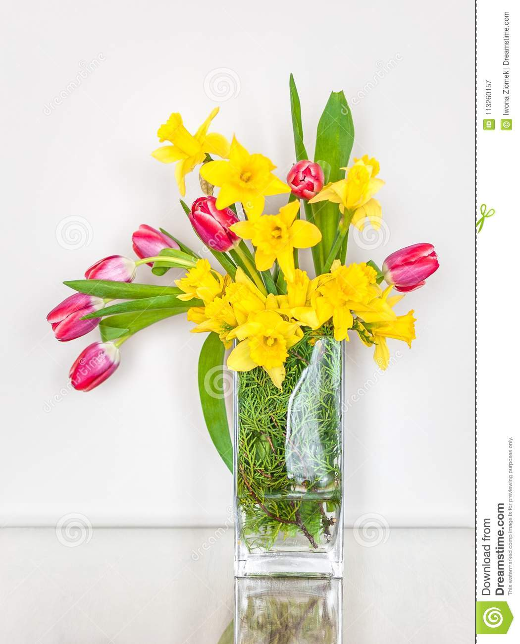 Spring And Easter Flower Arrangement Stock Image Image Of Spring