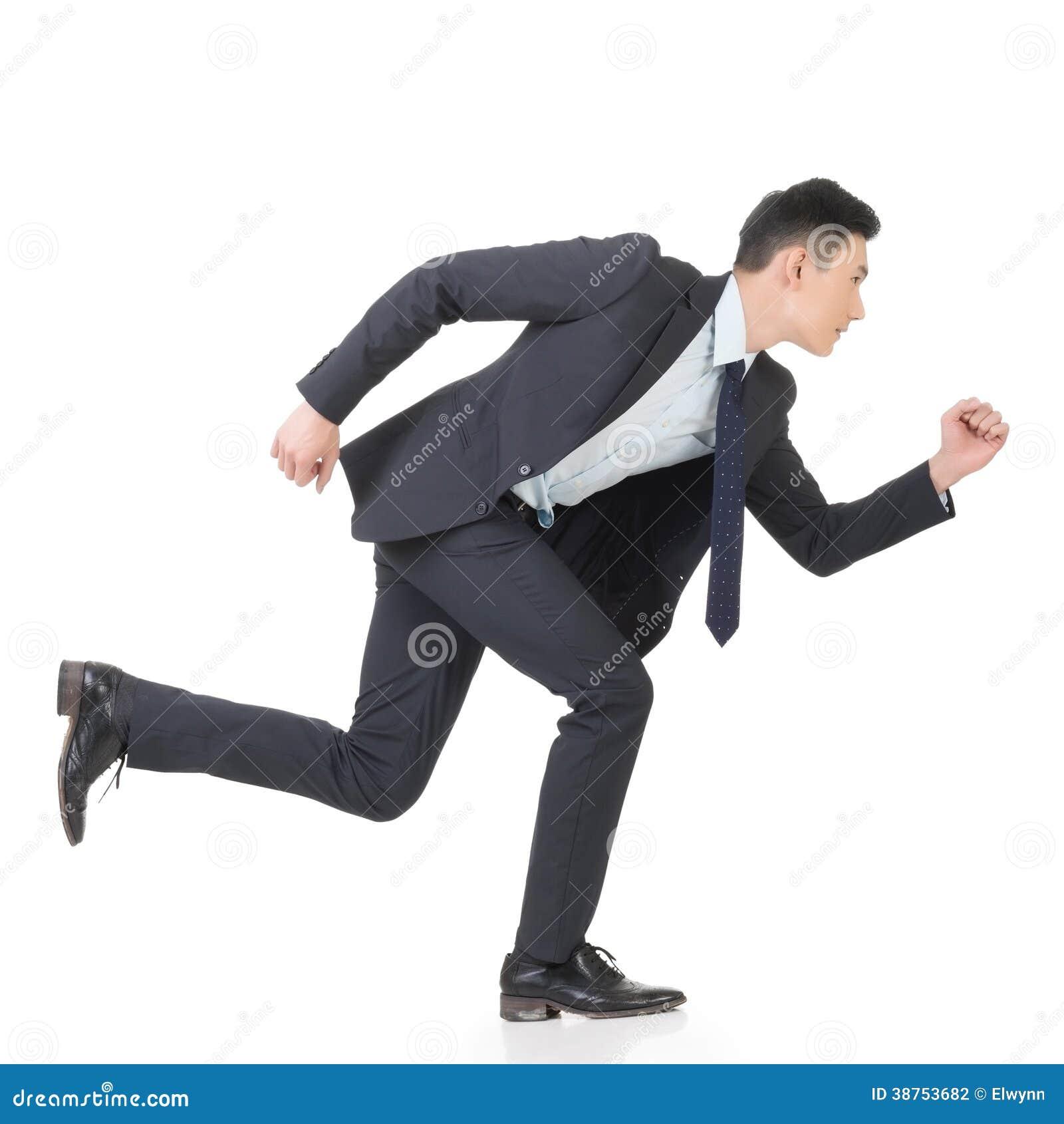 Spring för affärsman