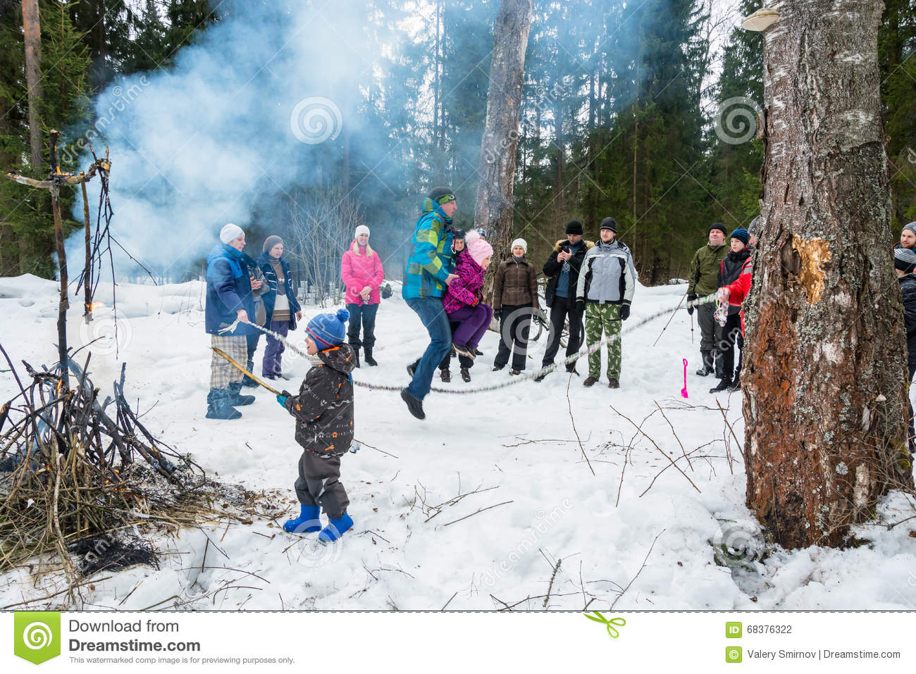 Spring festival Maslenitsa - the Seeing off the Russian winter,