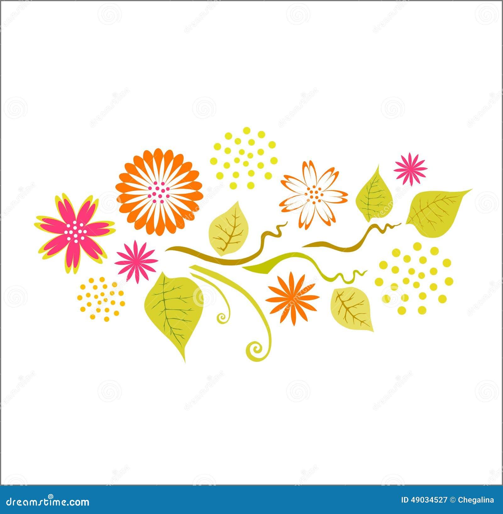 Spring Floral Design Stock Illustration Illustration Of Leaf 49034527