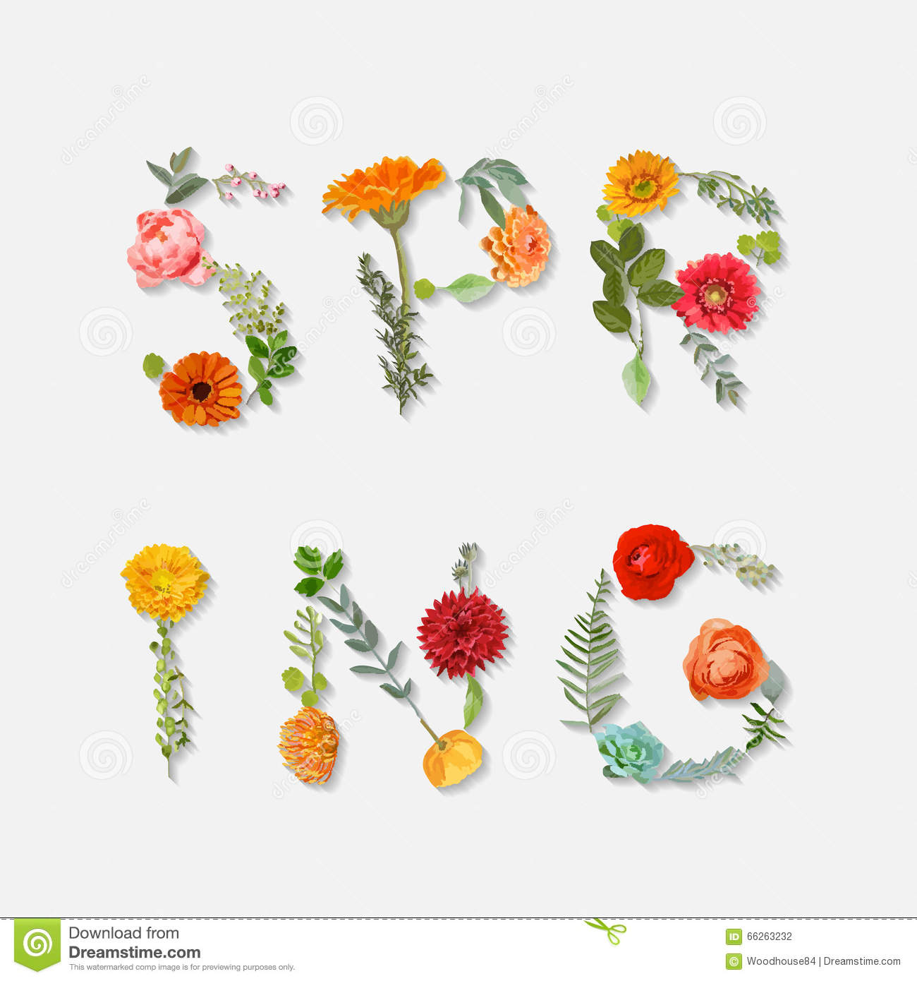 Floral Spring Graphic Design Stock Vector