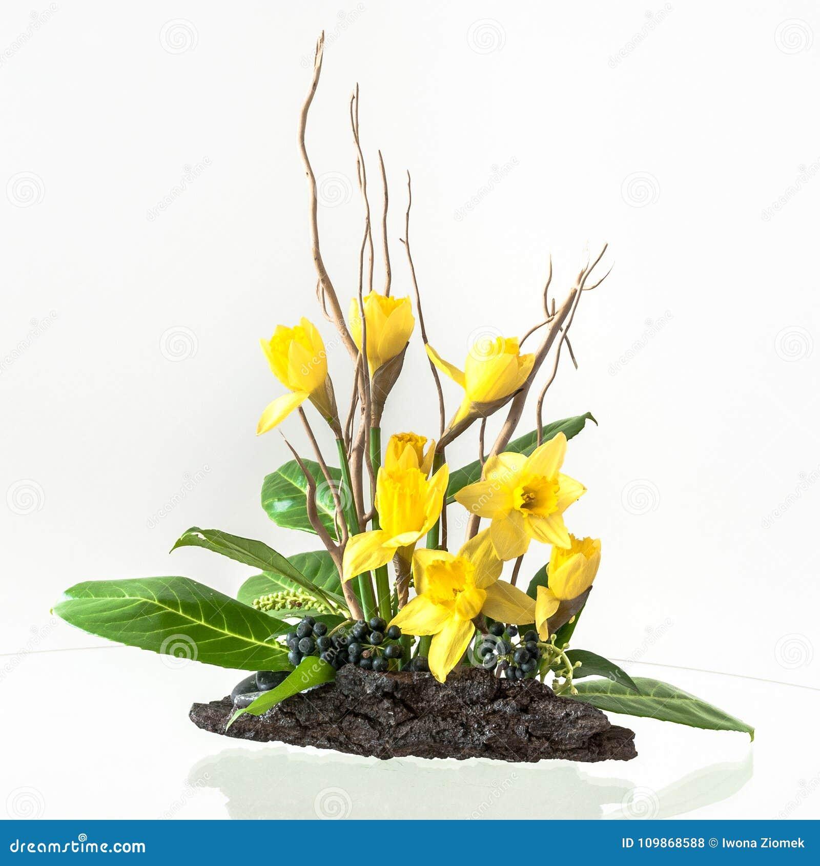 Spring Flower Arrangement Stock Photo Image Of Decor 109868588
