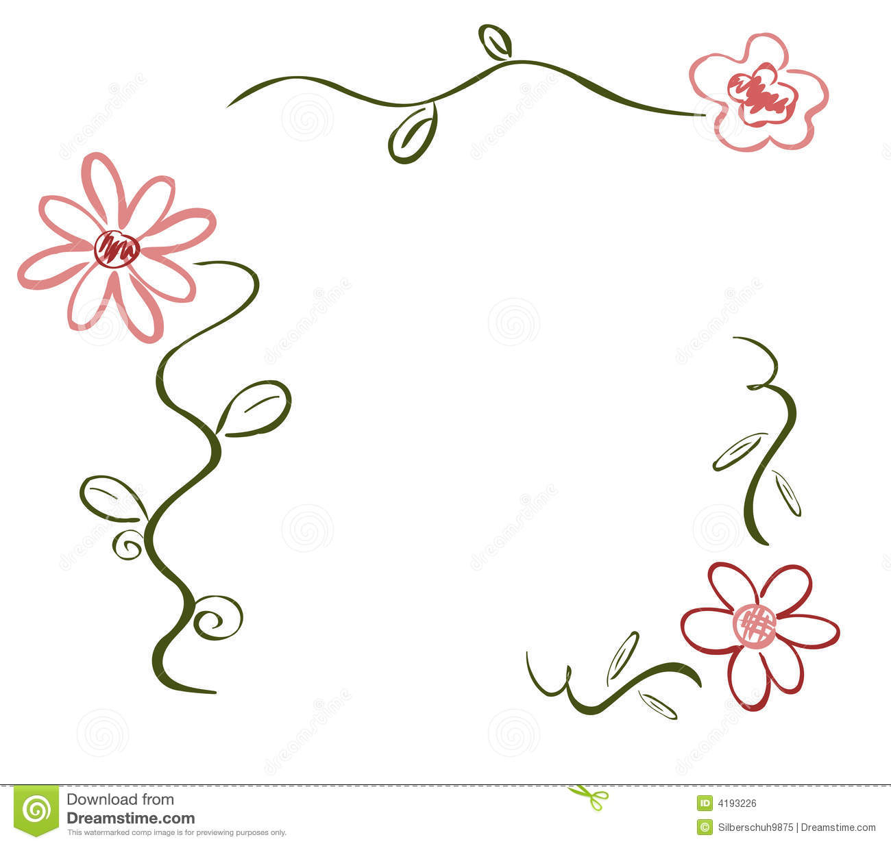 spring flower deco stock vector image of deco ornament. Black Bedroom Furniture Sets. Home Design Ideas