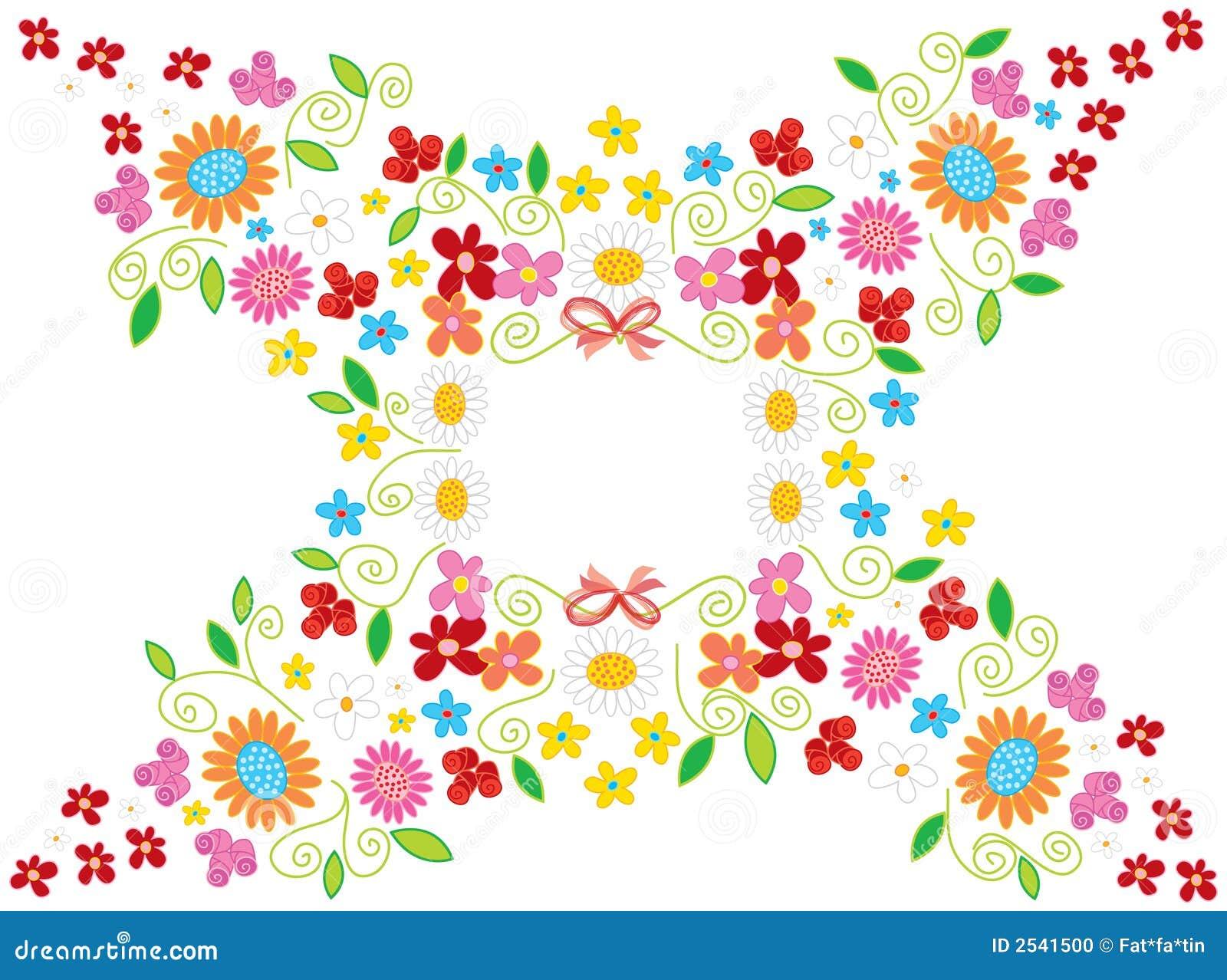 Spring Flower Frame White Stock Vector Illustration Of Background