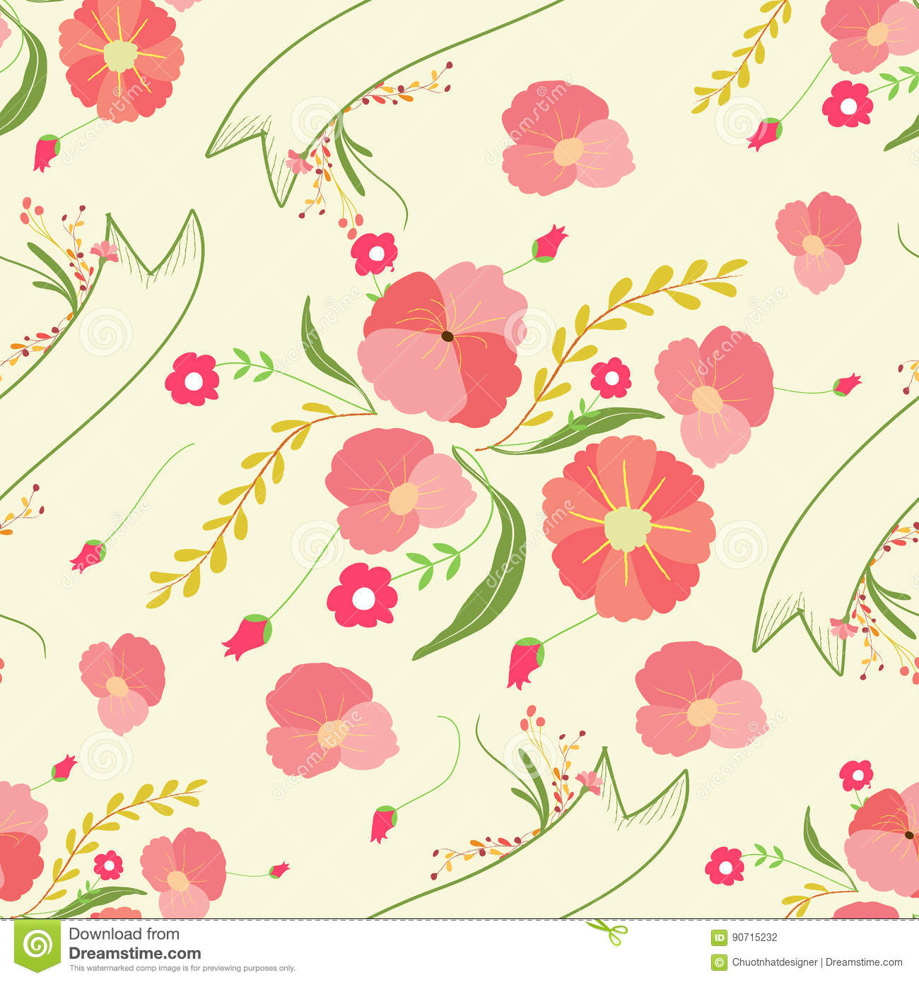 Spring flowers backgrounds seamless floral pattern stock vector spring flowers backgrounds seamless floral pattern mightylinksfo
